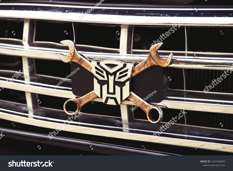 Handmade Logo Transformer Autobot On Car Stock Photo Edit Now
