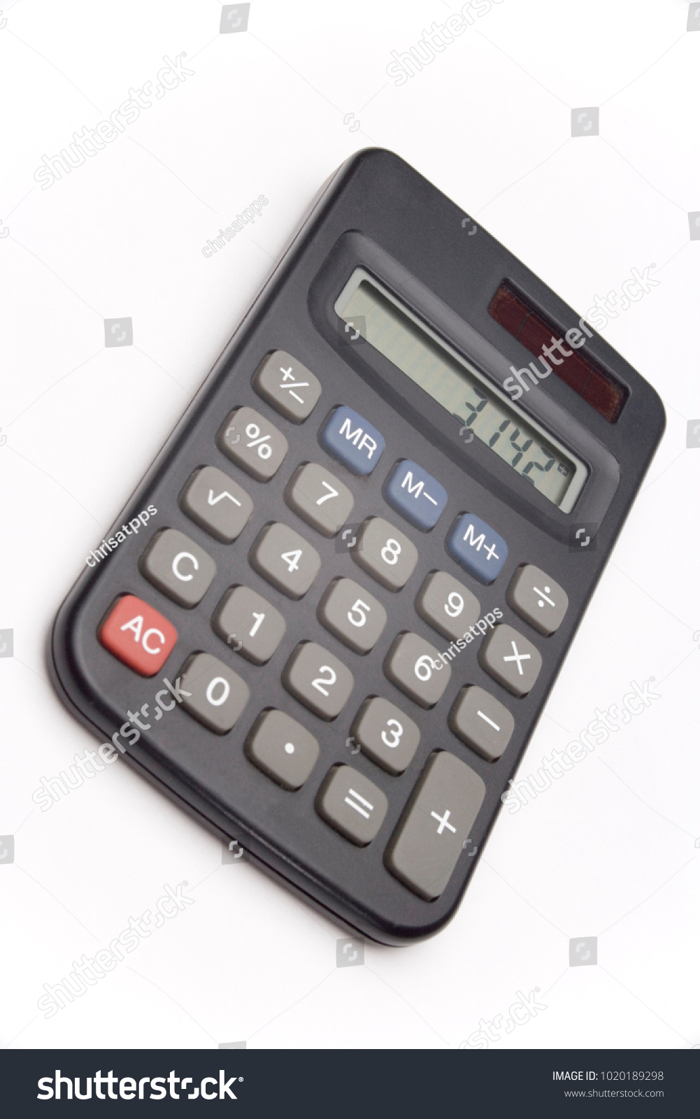 calculator on white background showing value of pi ez canvas