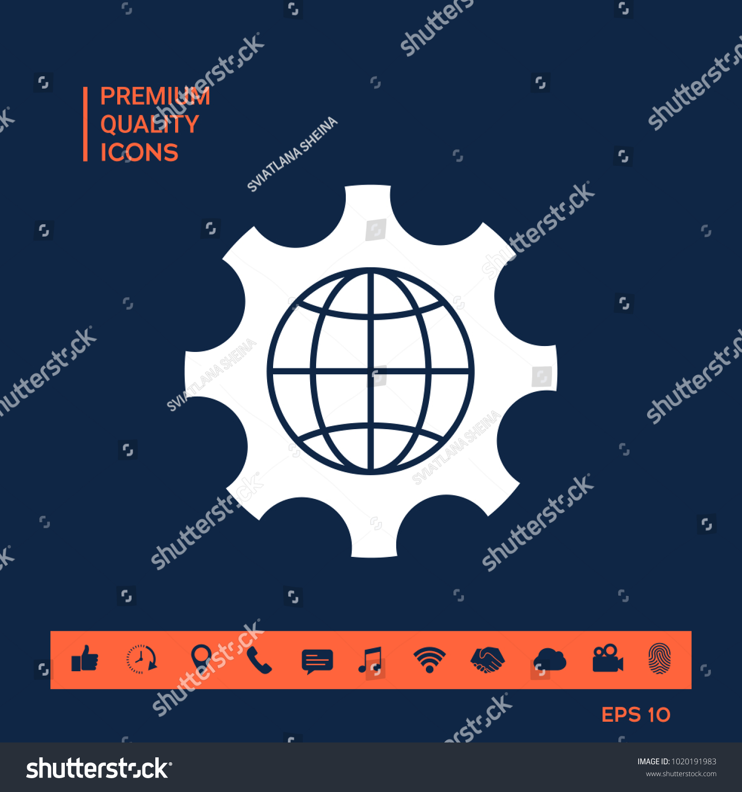 Globe Of The Earth Inside A Gear Or Cog Setting Parameters Global Diagram Id 1020191983