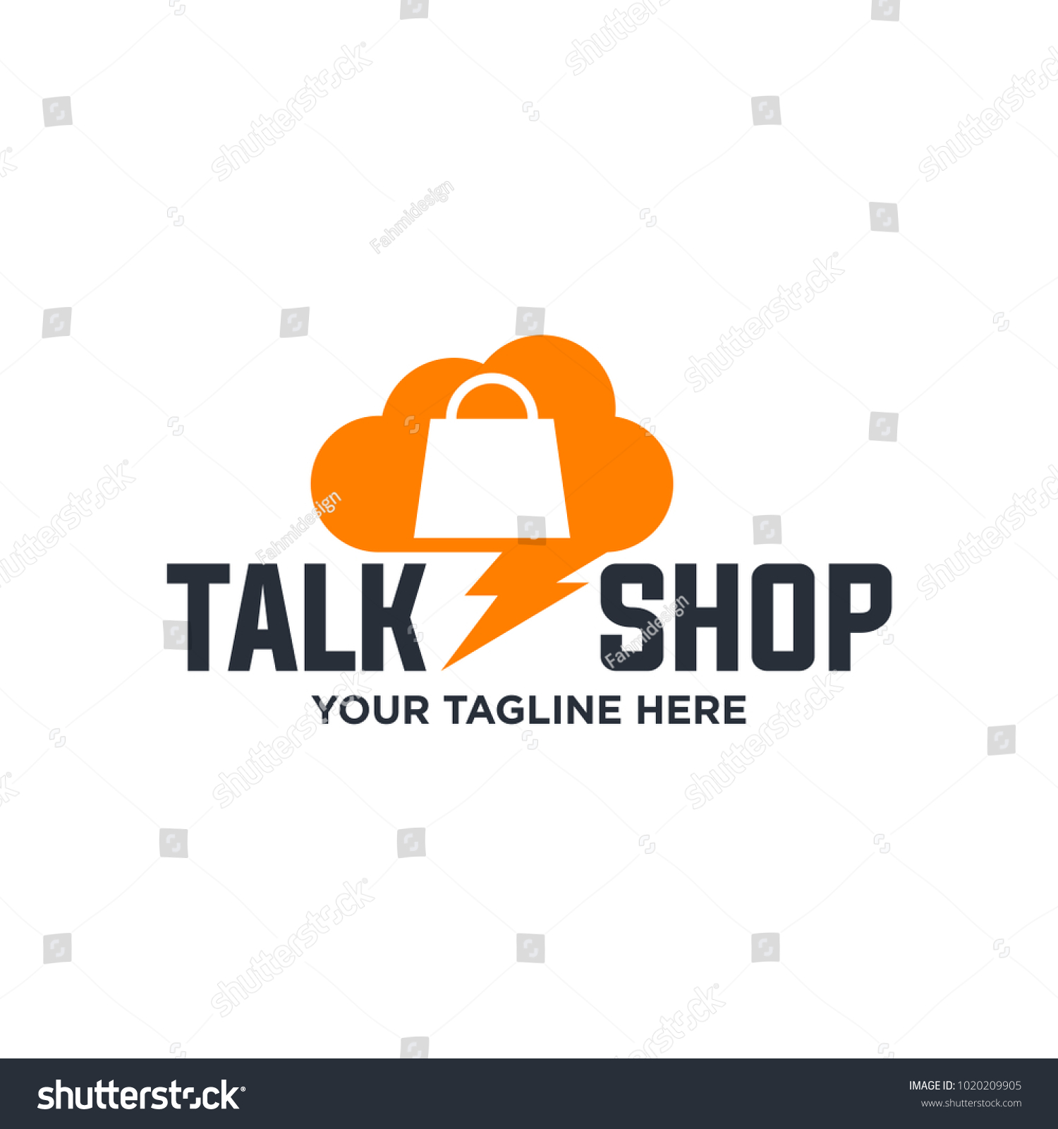 Online Shops Logo Template Colored Isolated Stock Vector Royalty