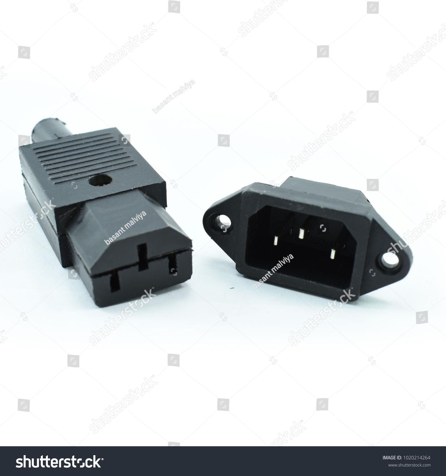 Computer SMPS Connector 3 Pin Socket Stock Photo (Royalty Free ...