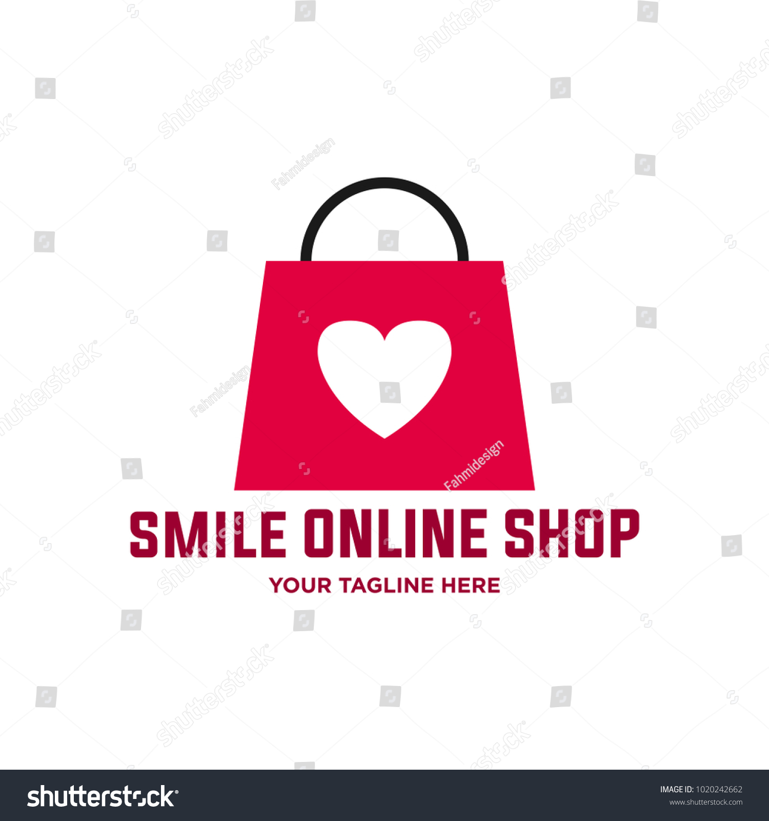 Love Shop Logo Template Vecor Stock Vector Royalty Free 1020242662