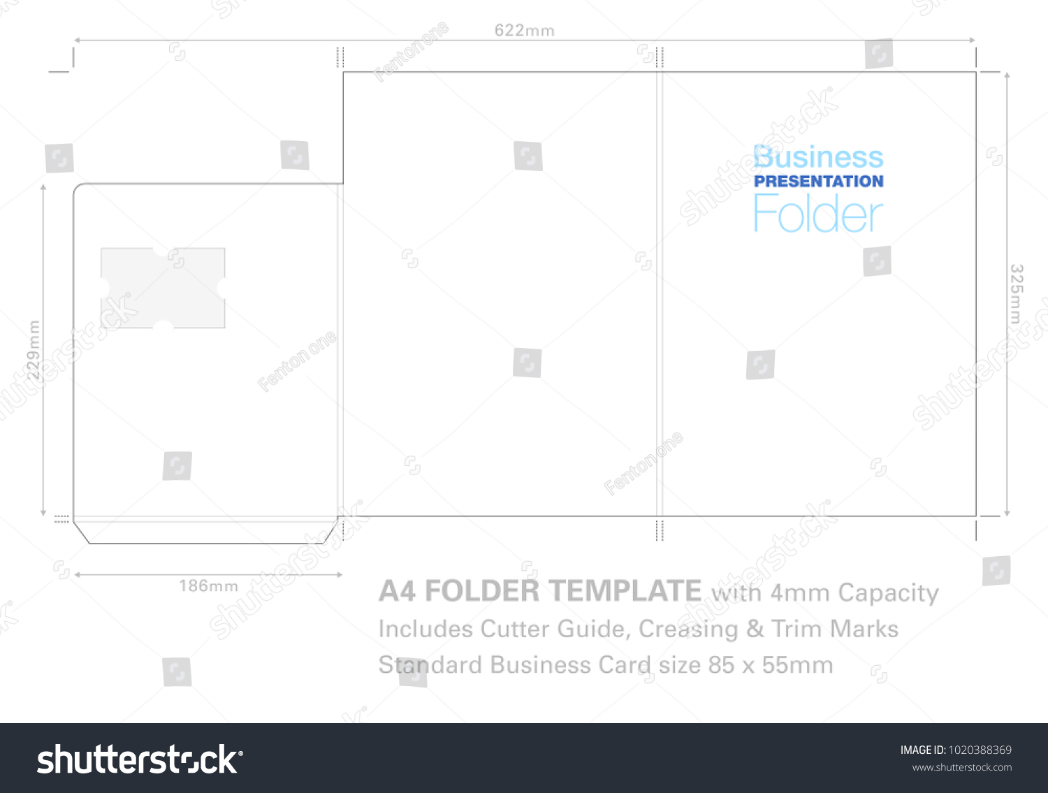 Presentation Folder A 4 Template Cutter Guide Stock Photo (Photo ...