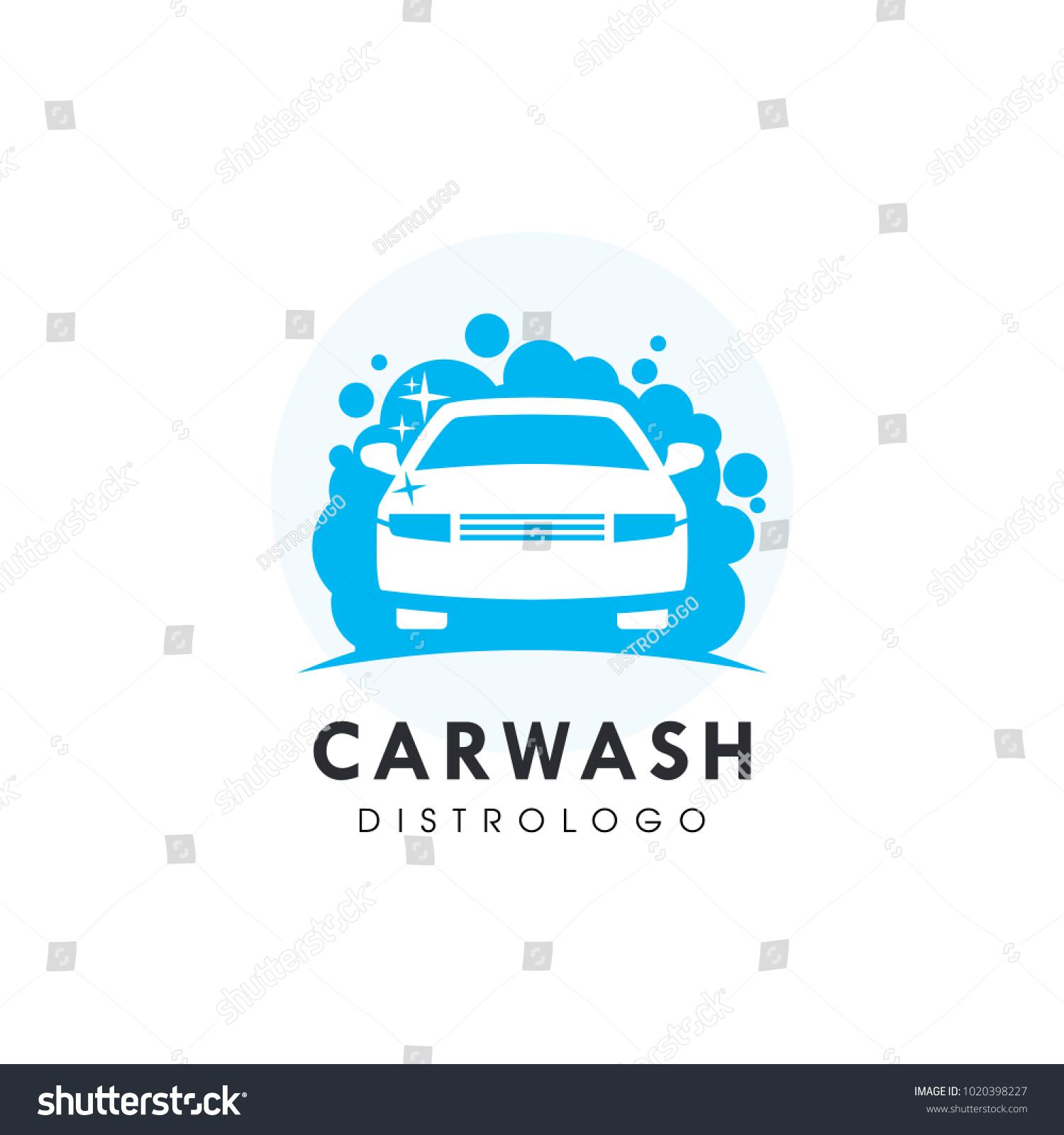 car wash logo template vector logo stock vector royalty free