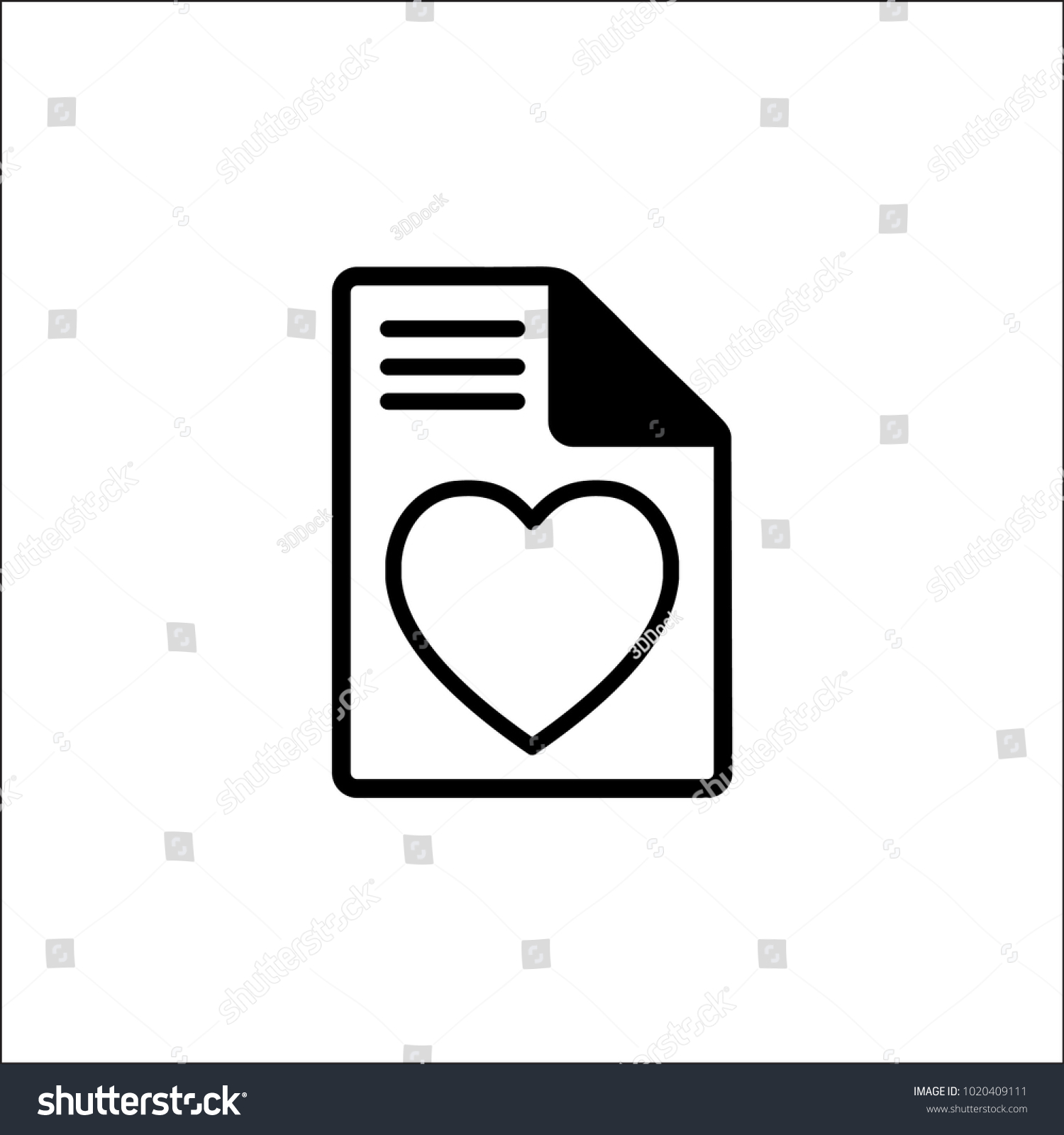 Favorite Document File Icon Vector Filled Stock Vector Royalty Free