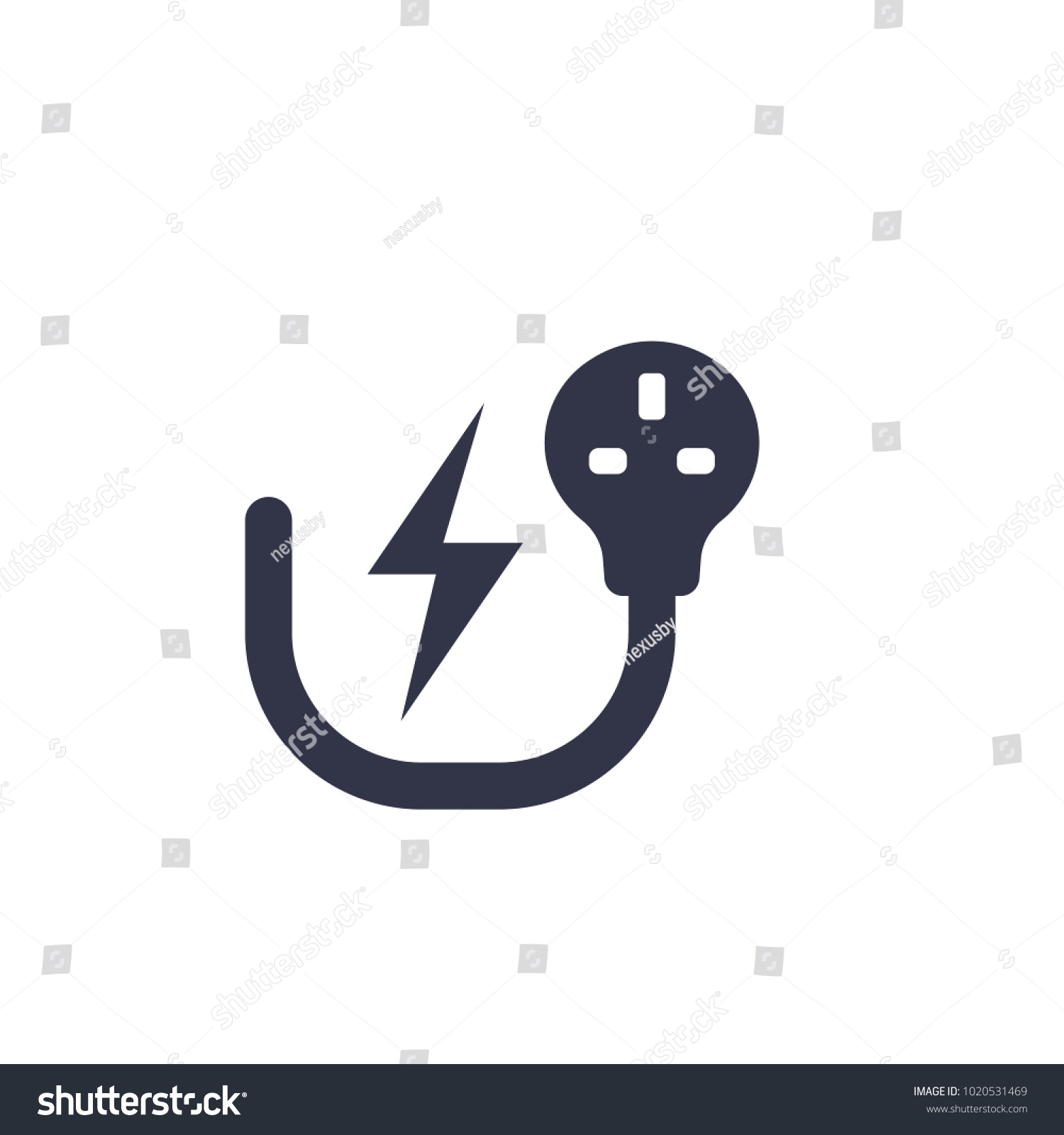 Uk Electric Plug Electricity Symbol On Stock Vector HD (Royalty Free ...