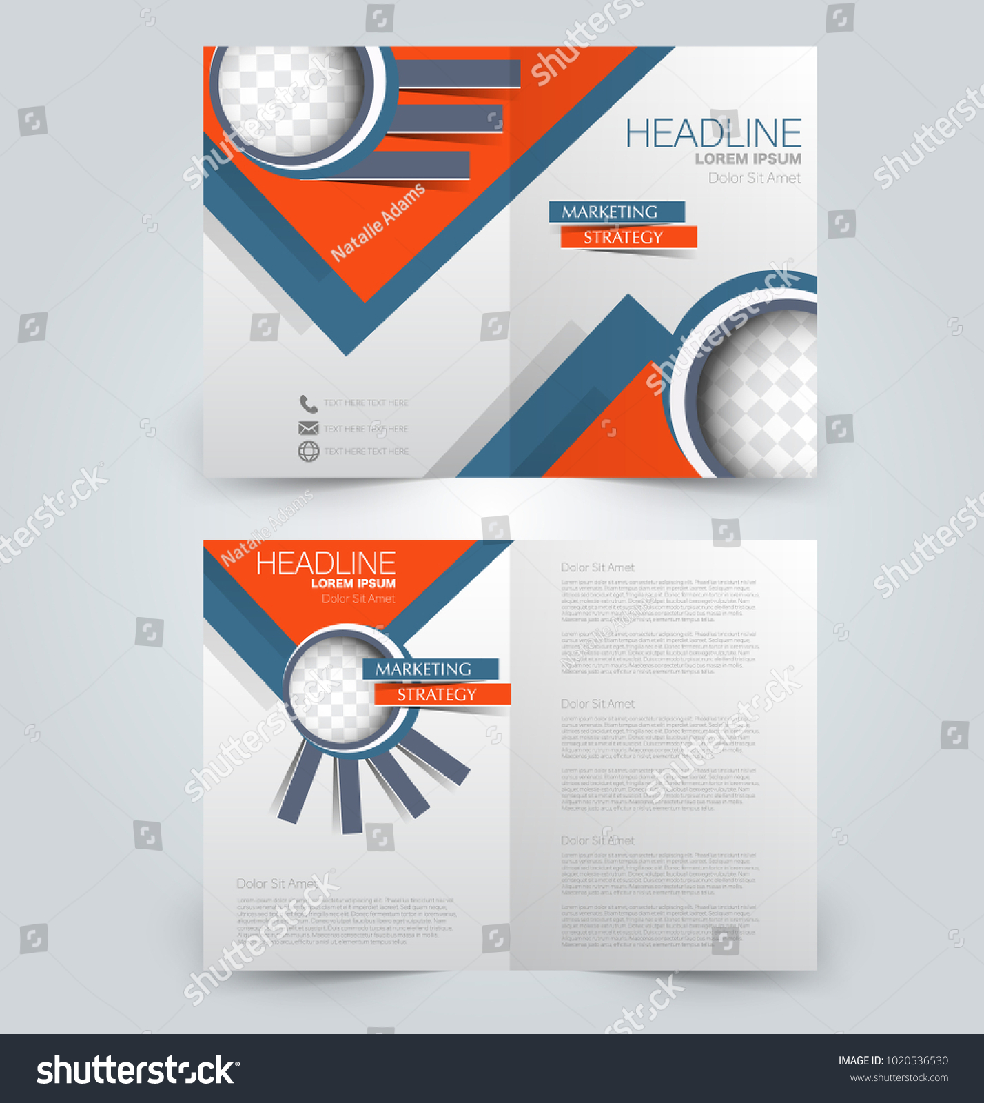 Fold Brochure Template Flyer Background Design Stock Vector (2018 ...