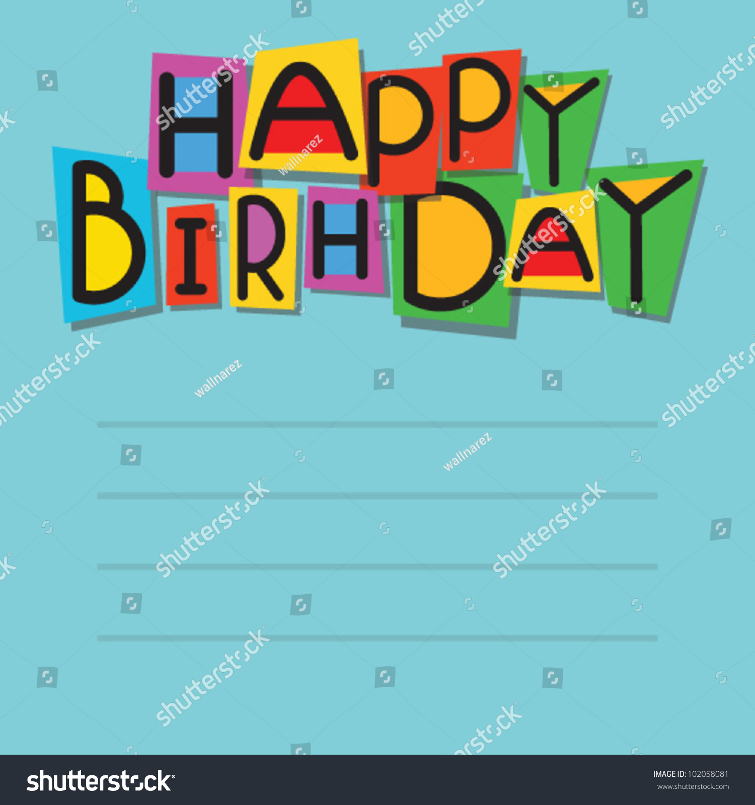Happy Birthday Cards Greeting Card Stock Vector Royalty Free