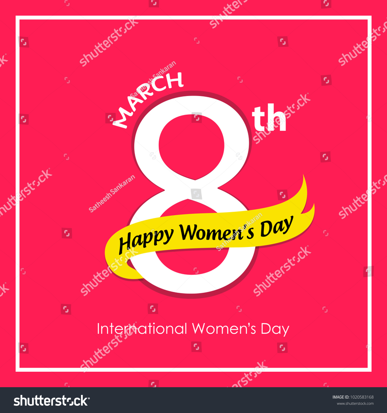 Happy womens day greetings 8th march stock vector 1020583168 happy womens day greetings for 8th march with creative calligraphy and icon international womens day kristyandbryce Gallery