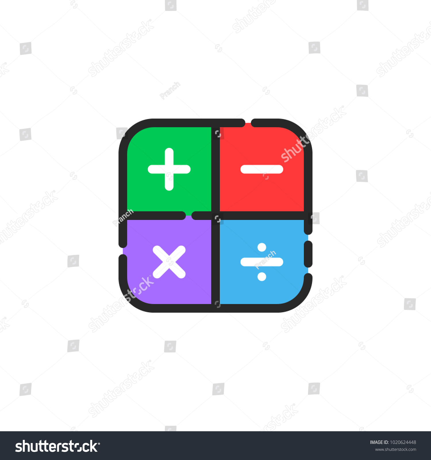 Linear color math symbol icon concept stock vector 1020624448 linear color math symbol icon concept stock vector 1020624448 shutterstock biocorpaavc Image collections