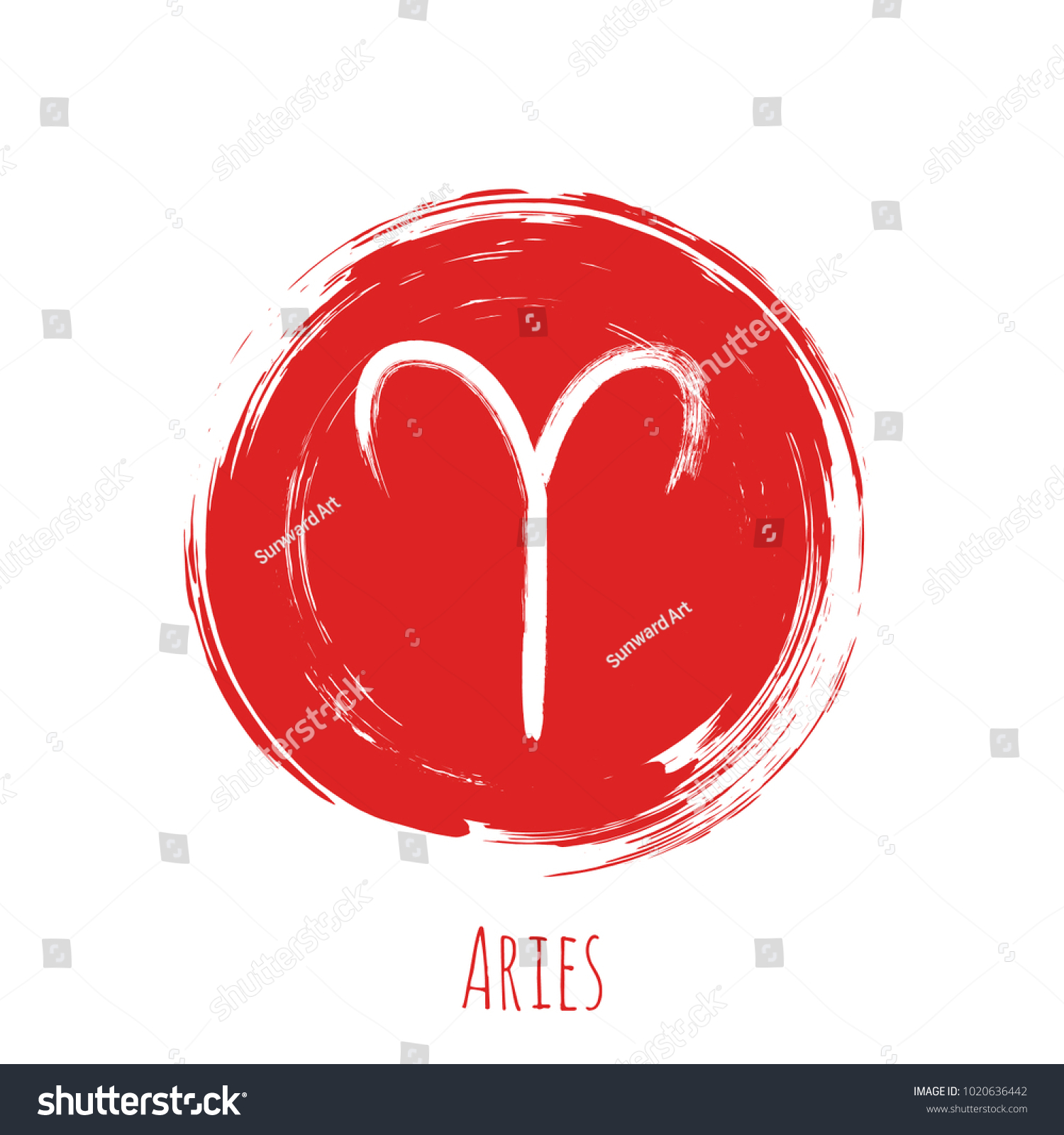Circle red aries zodiac symbol vector stock vector 1020636442 circle red aries zodiac symbol vector hand painted horoscope sign round astrological icon isolated biocorpaavc Gallery