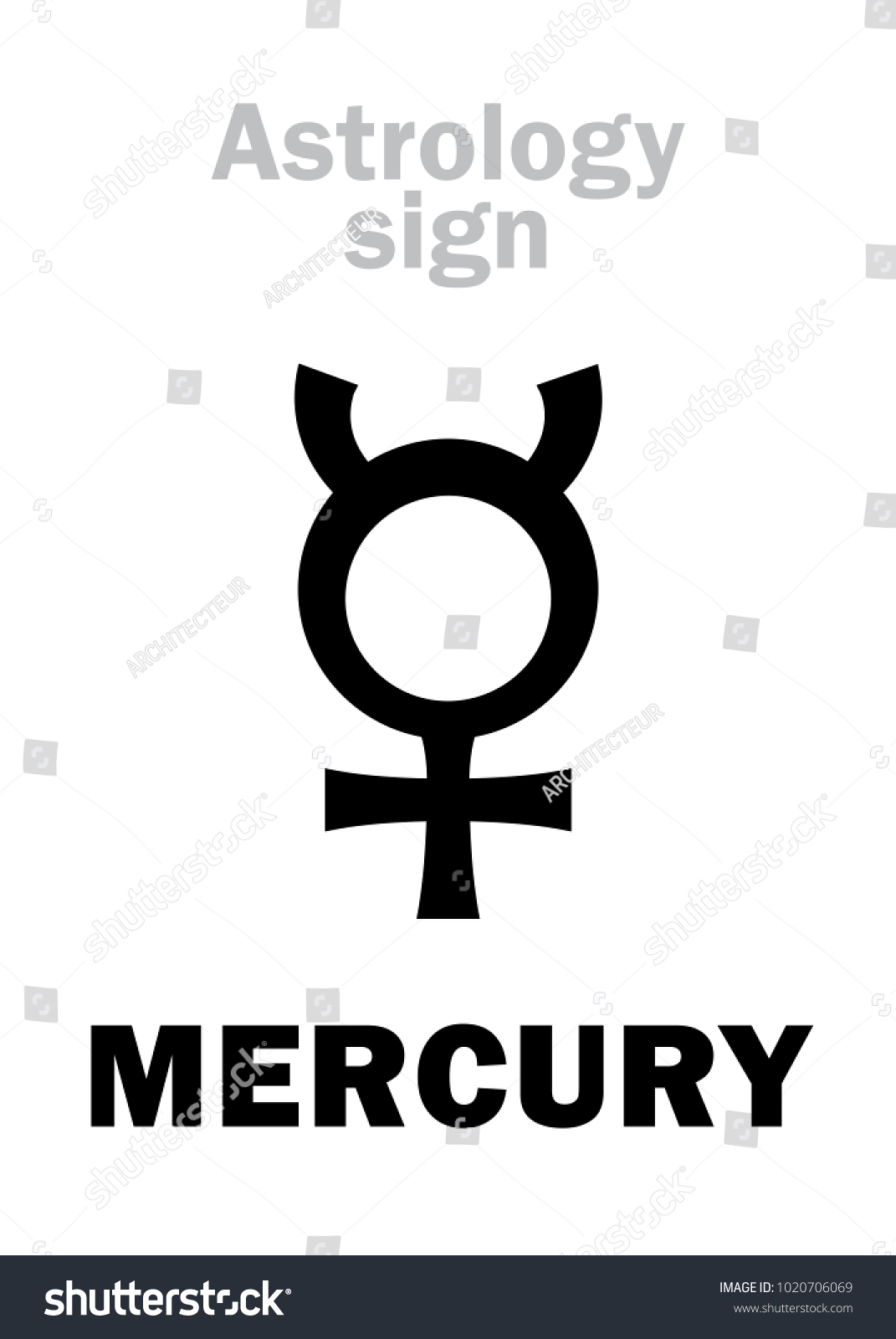 Astrology alphabet mercury classic minor mental stock vector astrology alphabet mercury classic minor mental planet hieroglyphics character sign single symbol biocorpaavc Image collections