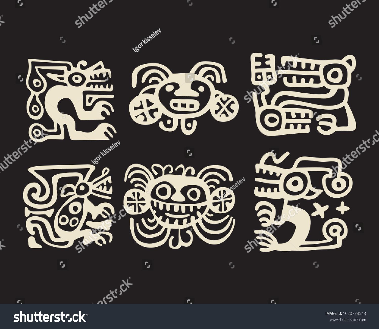 Typical recuay precolumbian south american culture stock vector typical recuay pre columbian south american culture decorative motifs used for pottery ceramics set buycottarizona