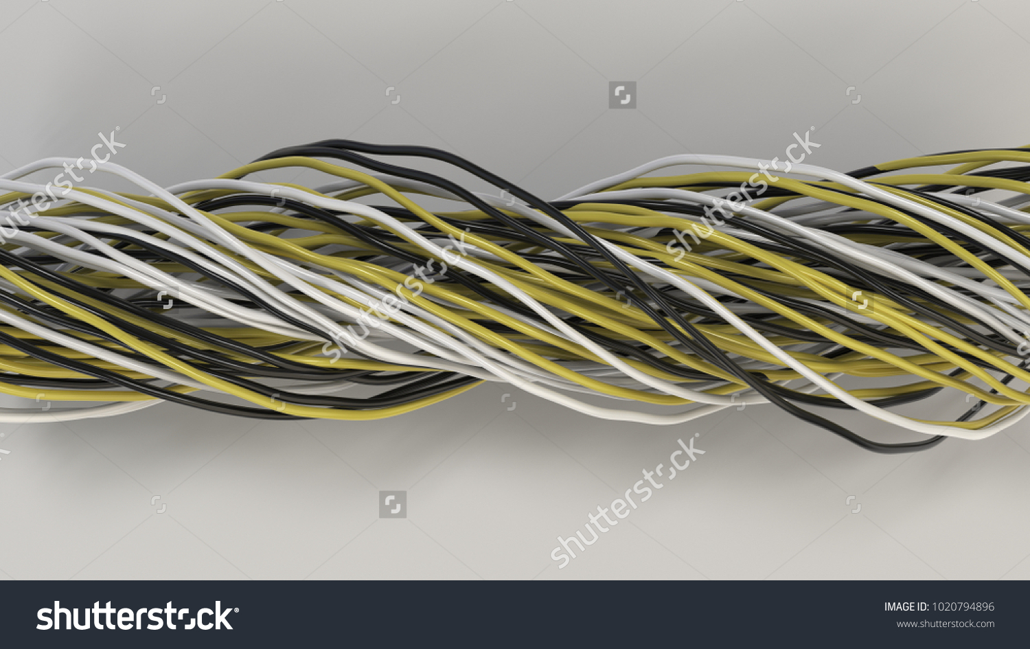 Electrical Wiring Black White Yellow