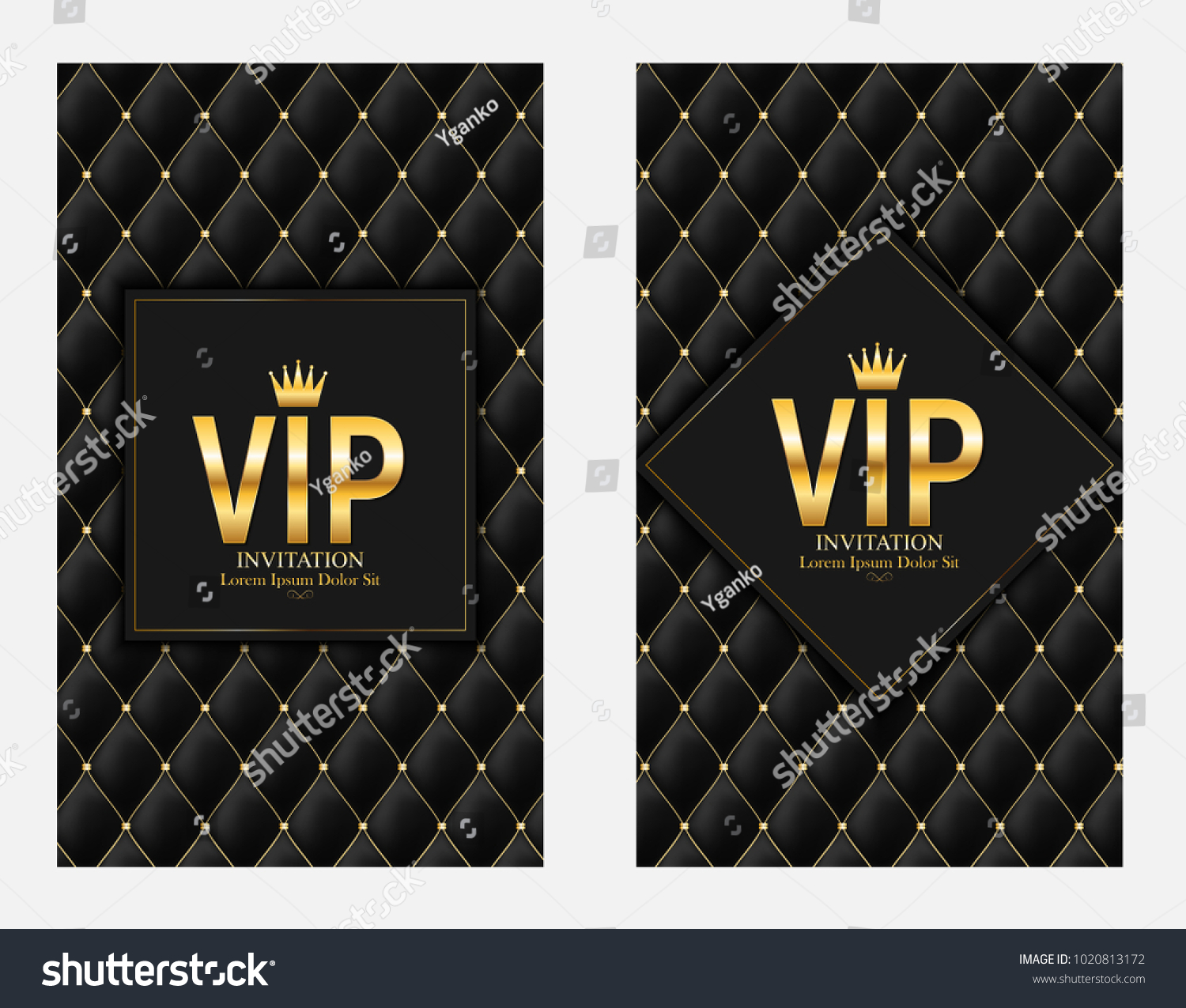 Luxury Members Gift Card Template Your Stock Vector Royalty Free