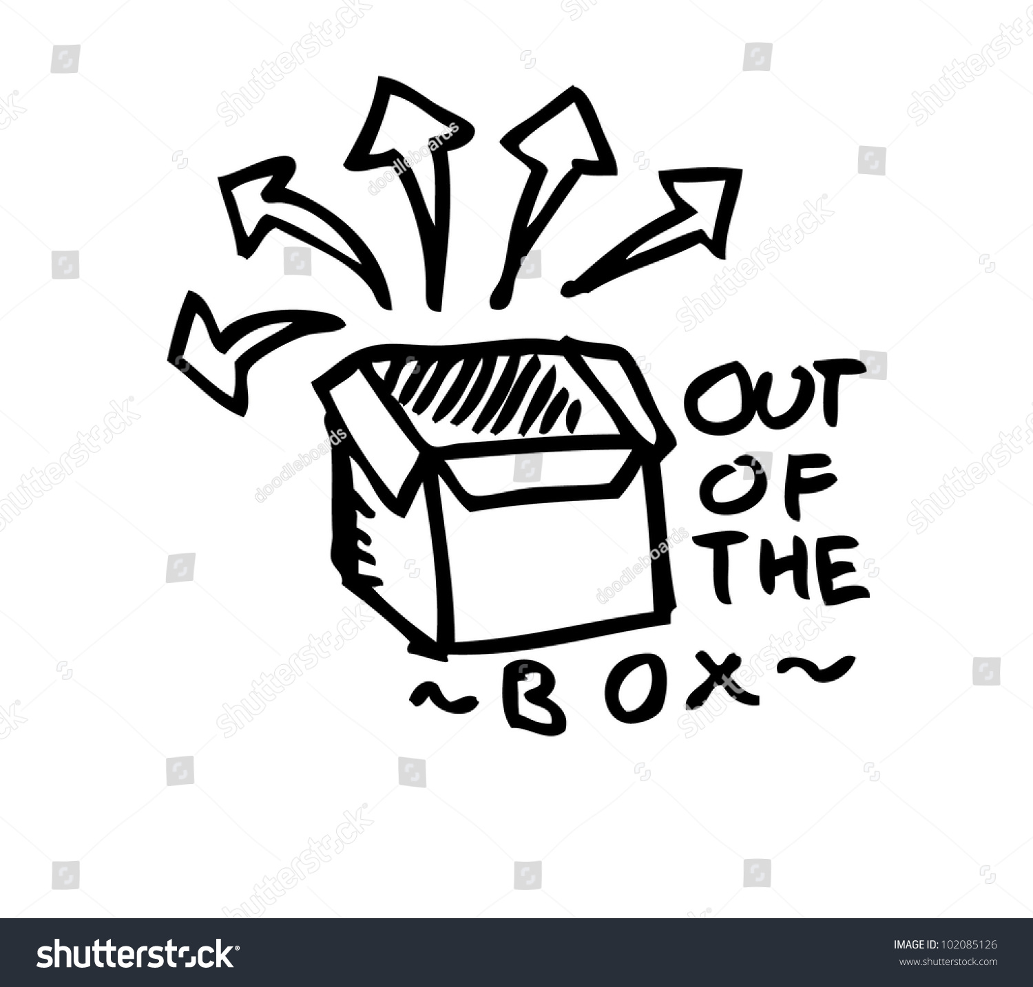 Out Box Stock Vector Shutterstock