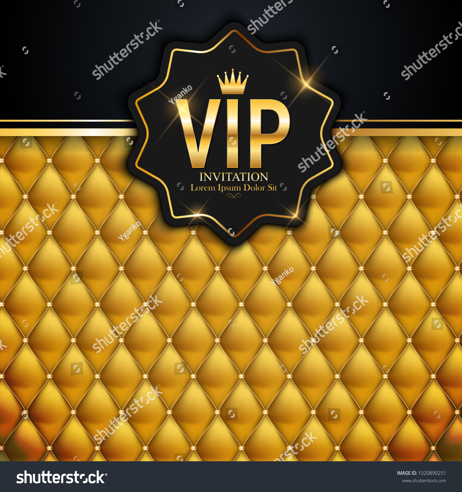Luxury Members Gift Card Template Your Stock Vector (2018 ...