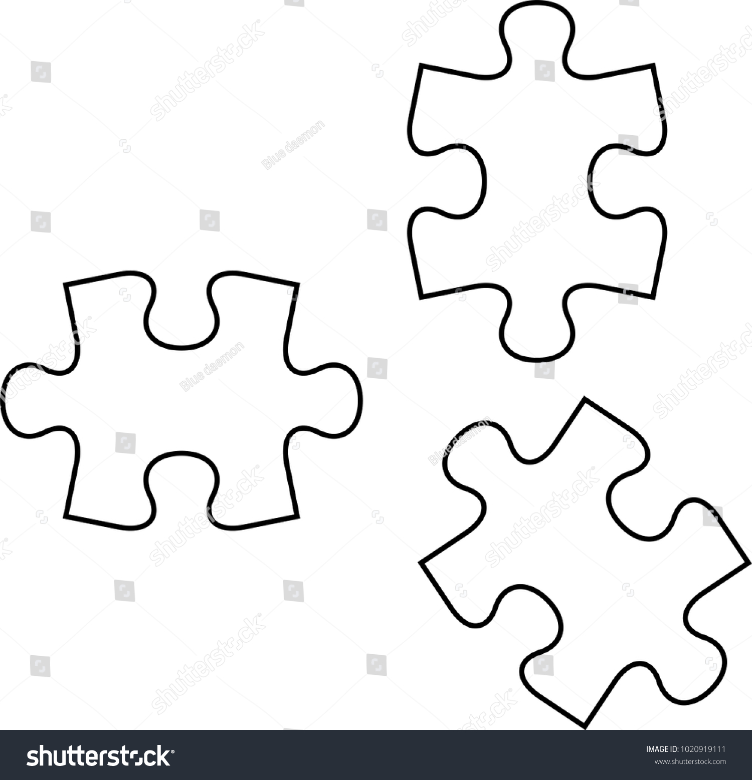 jigsaw puzzle template vector awesome graphic library
