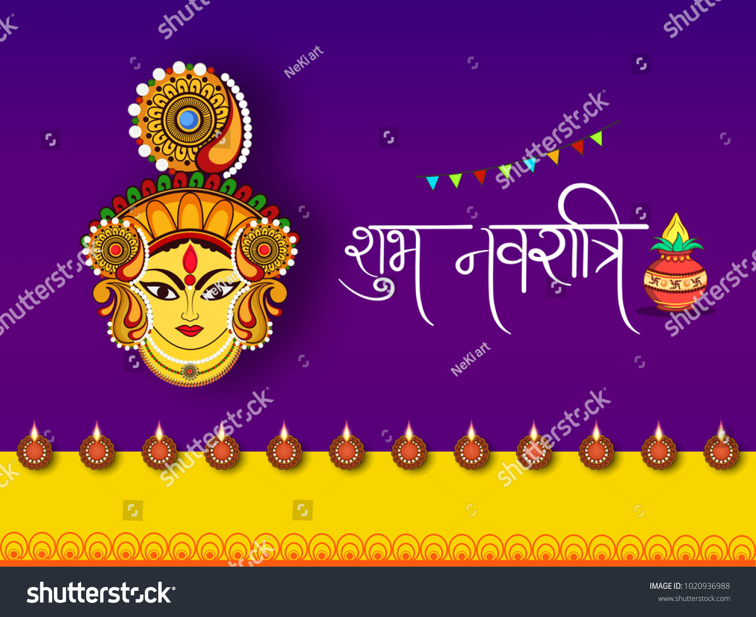 Abstract editable vector for hindu festival chaitra navratri 2018 id 1020936988 m4hsunfo