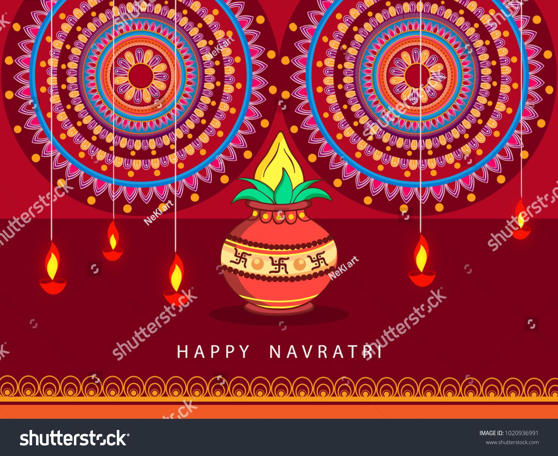 Abstract Editable Vector Hindu Festival Chaitra Stock Photo Photo