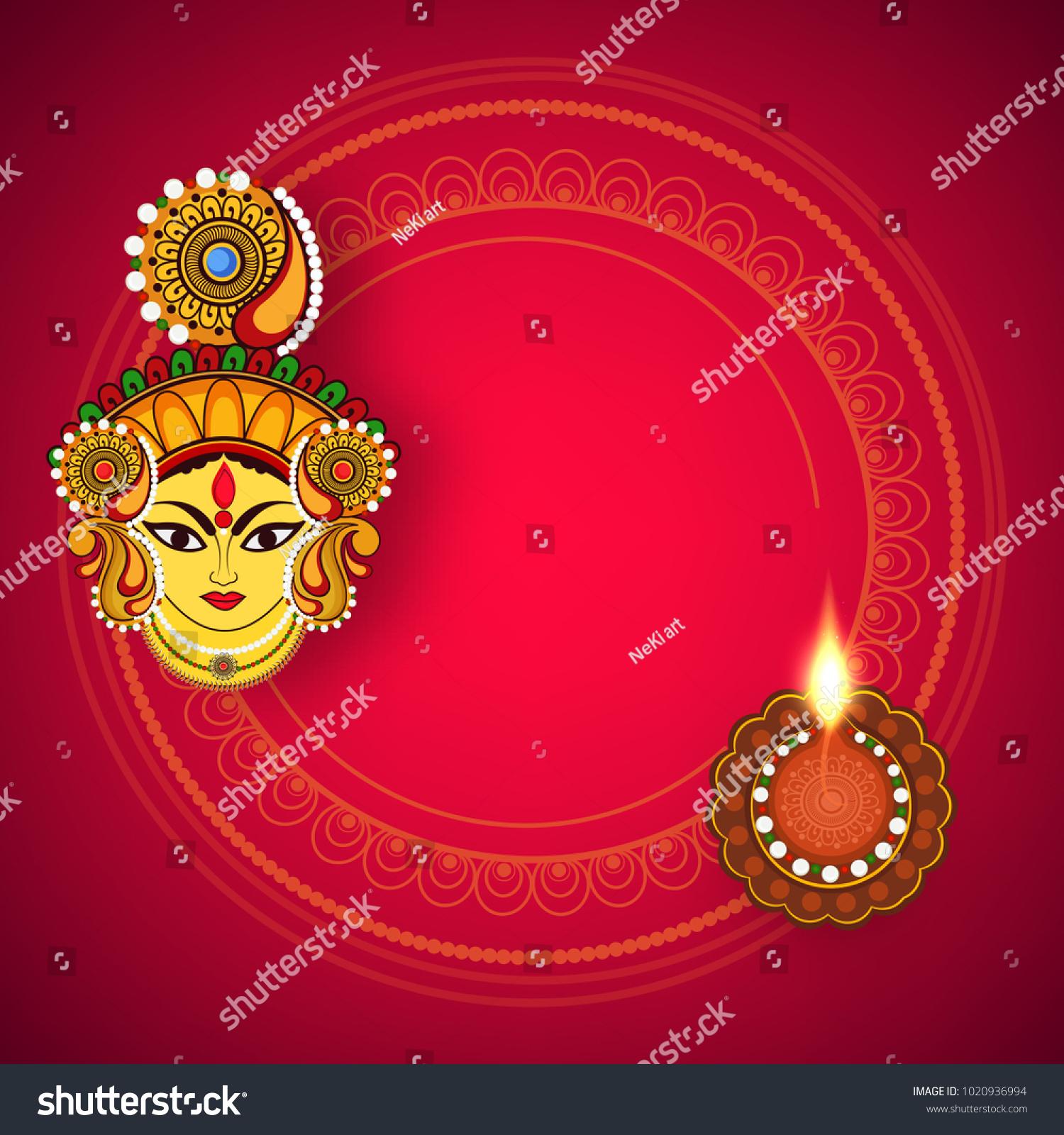 Abstract Editable Vector Hindu Festival Chaitra Stock Vector