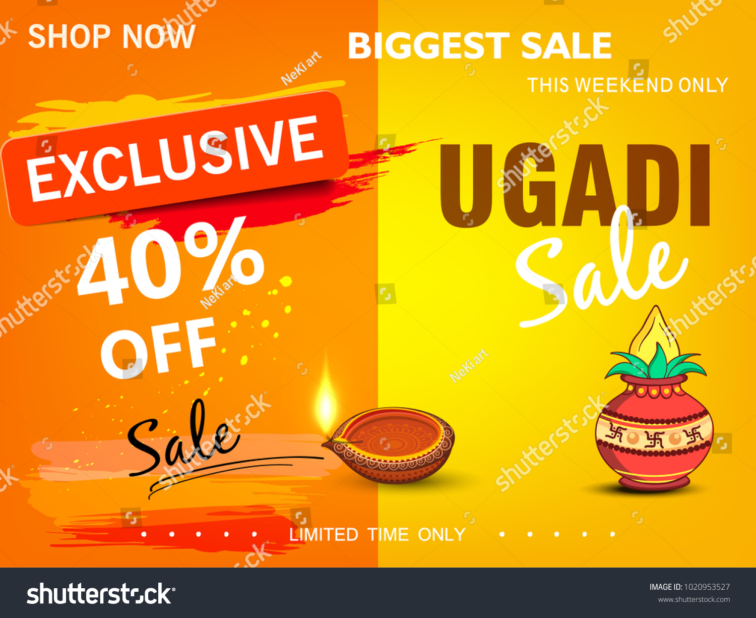 Happy Ugadi 2018 Editable Abstract Vector Stock Vector Royalty Free