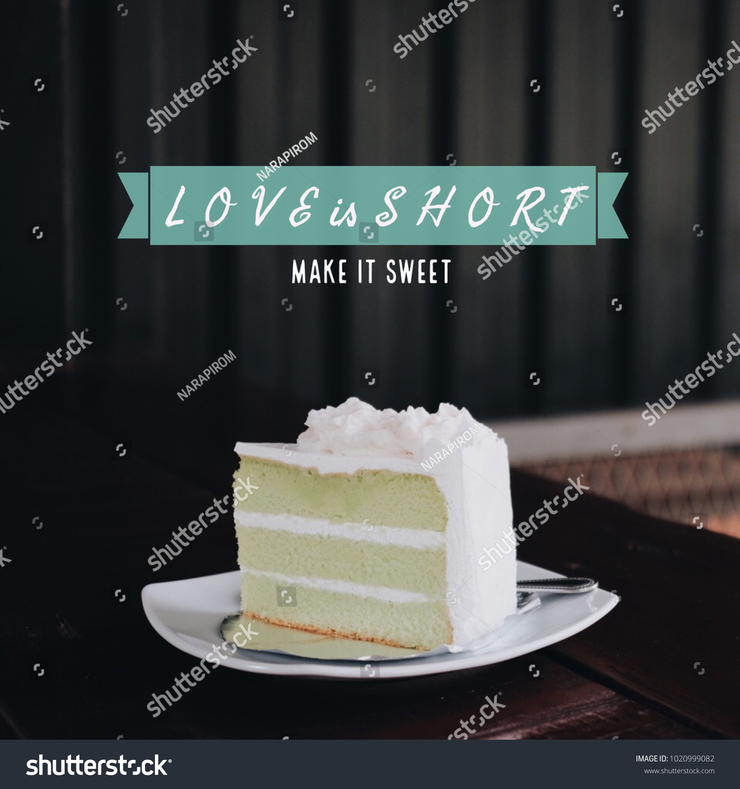 Inspiration Motivation Quote About Love Cake Stock Photo Edit Now