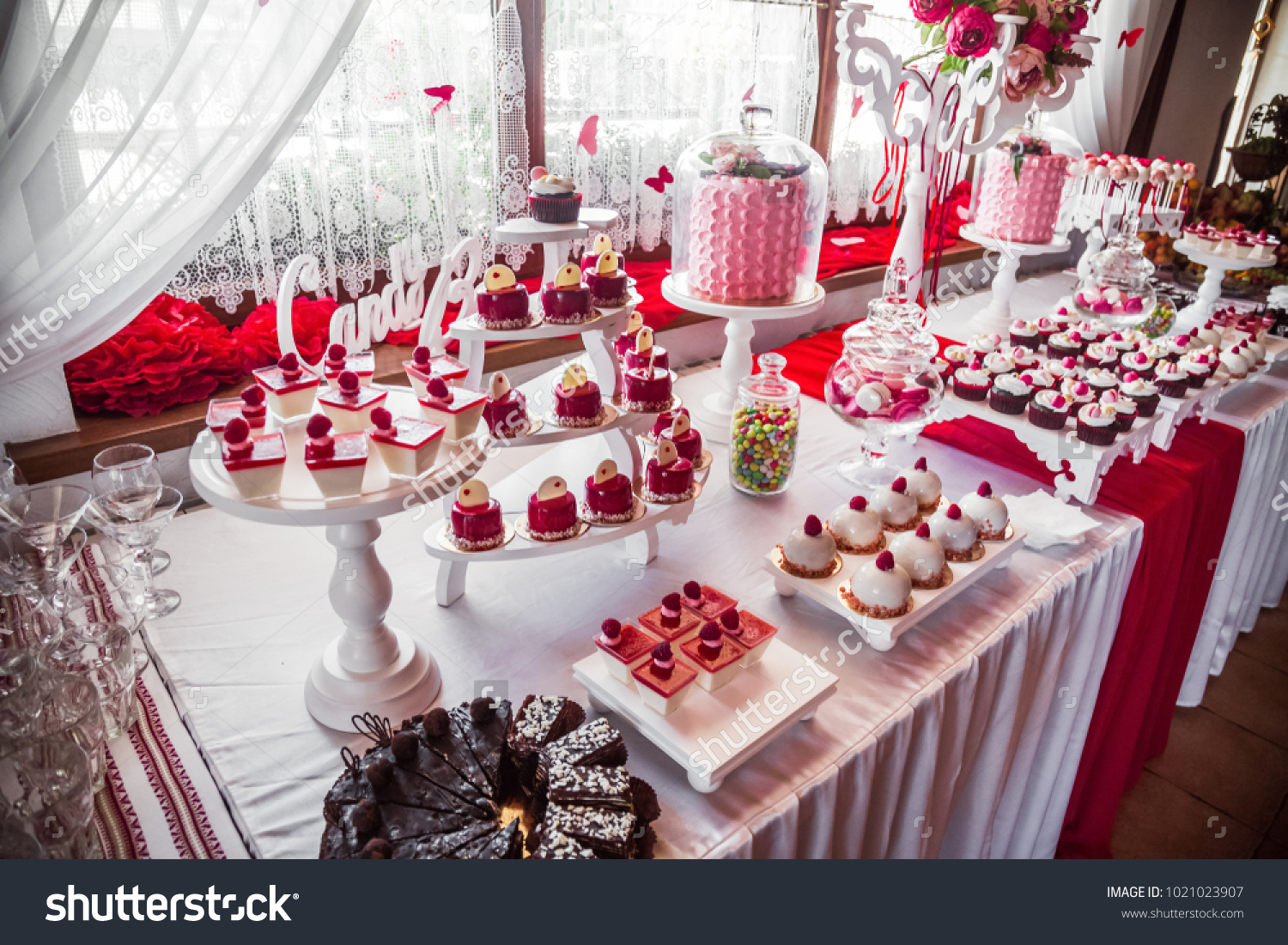 Table Sweets Candy Buffet Dessert Table Stock Photo Edit Now