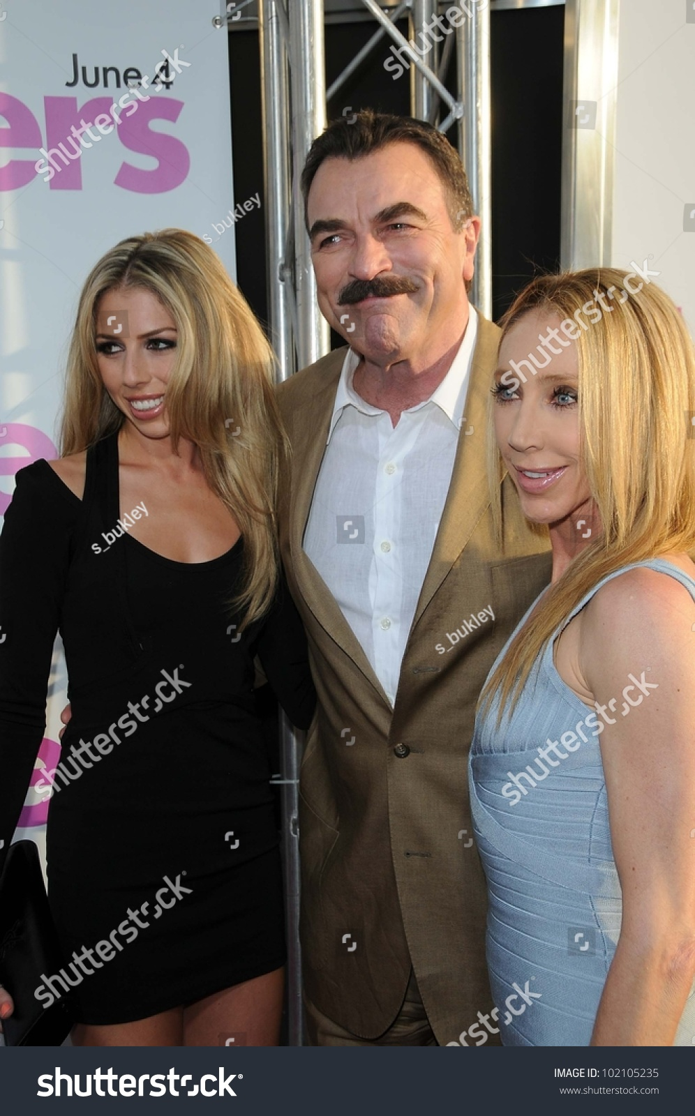 tom selleck jillie mack daughter hannah stock photo