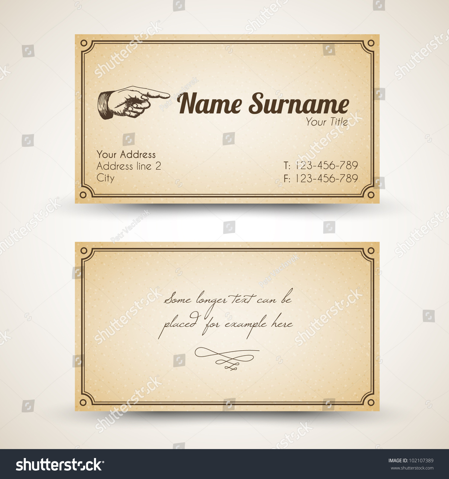 Business card watermark images free business cards business card watermark choice image free business cards vector oldstyle retro vintage business card stock vector magicingreecefo Choice Image