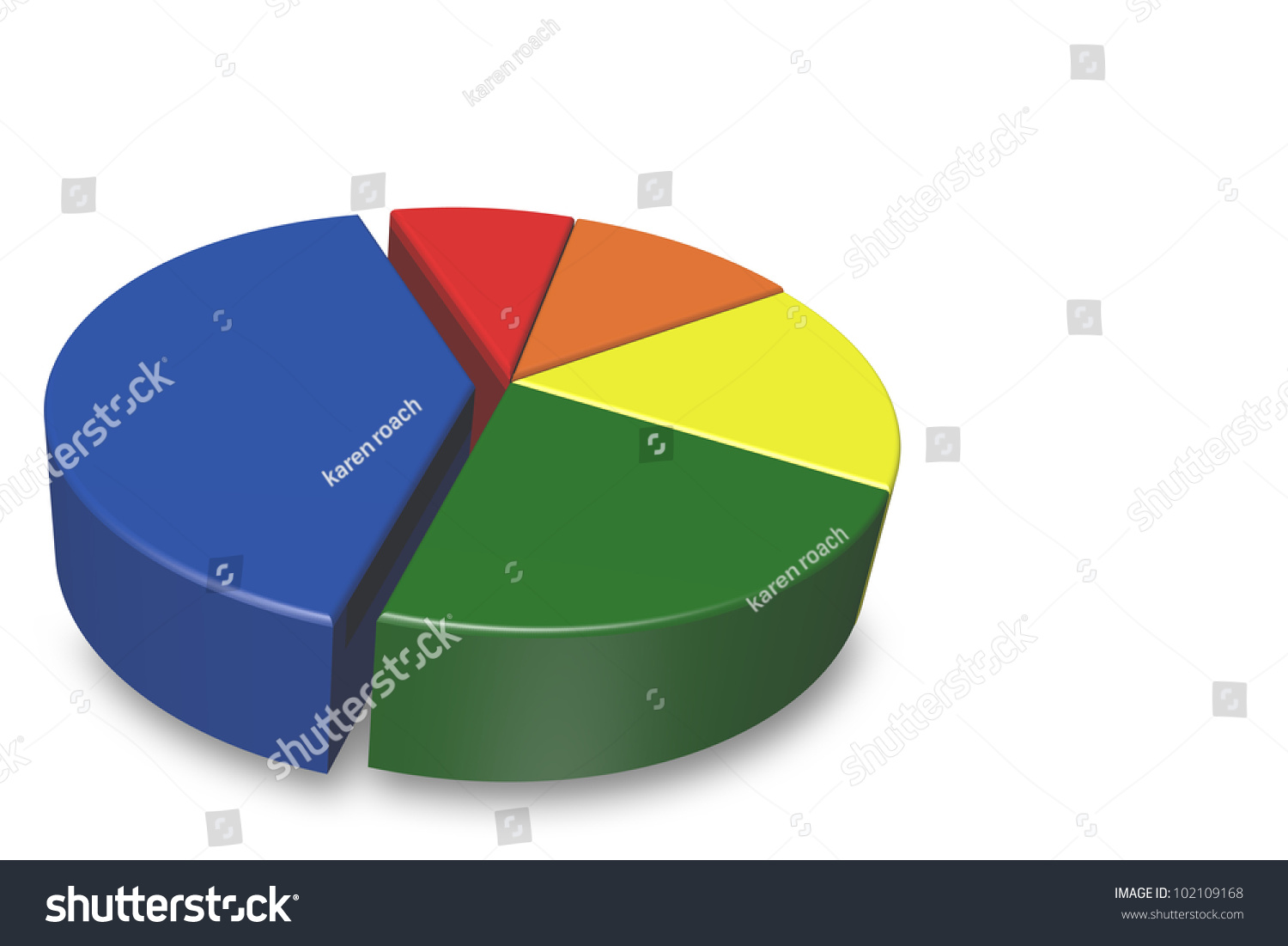 Blank 3d pie chart isolated on stock illustration 102109168 blank 3d pie chart isolated on a white background and empty for your text to be nvjuhfo Gallery
