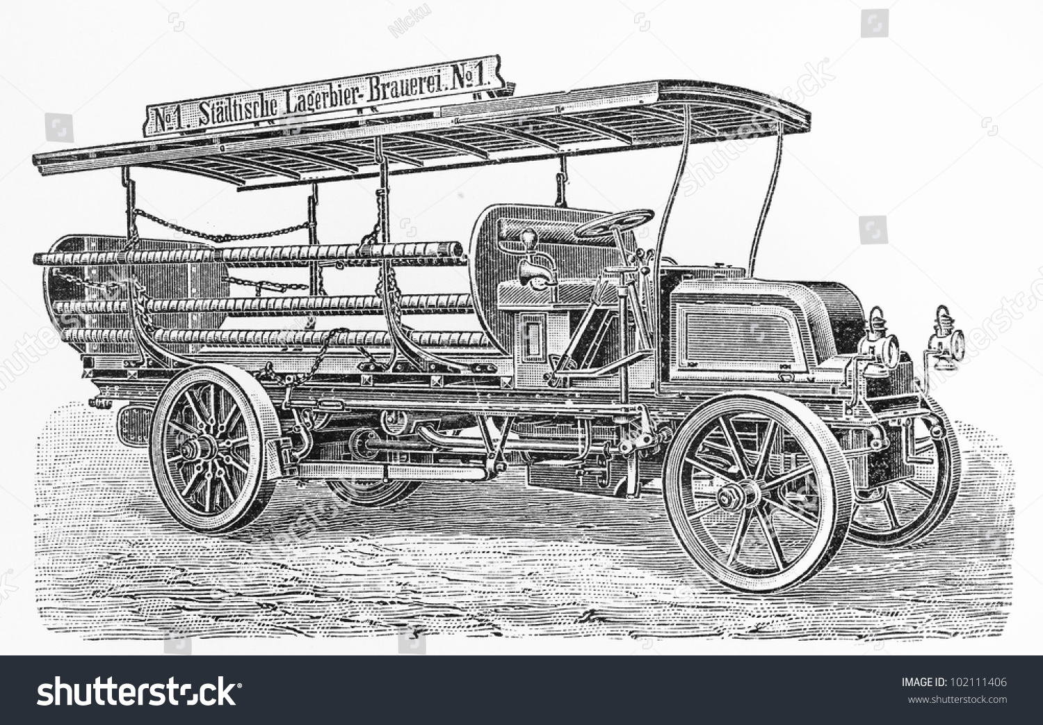 Vintage truck 8 hp four cylinder stock photo 102111406 for 20th century motor company