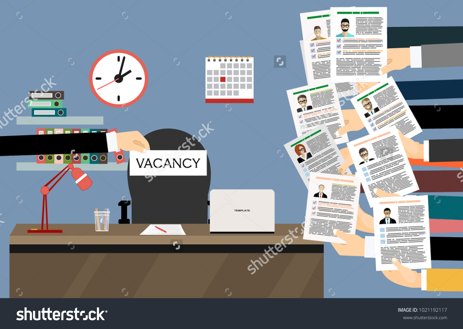 Hands Holds Resume Cv Form Isolated