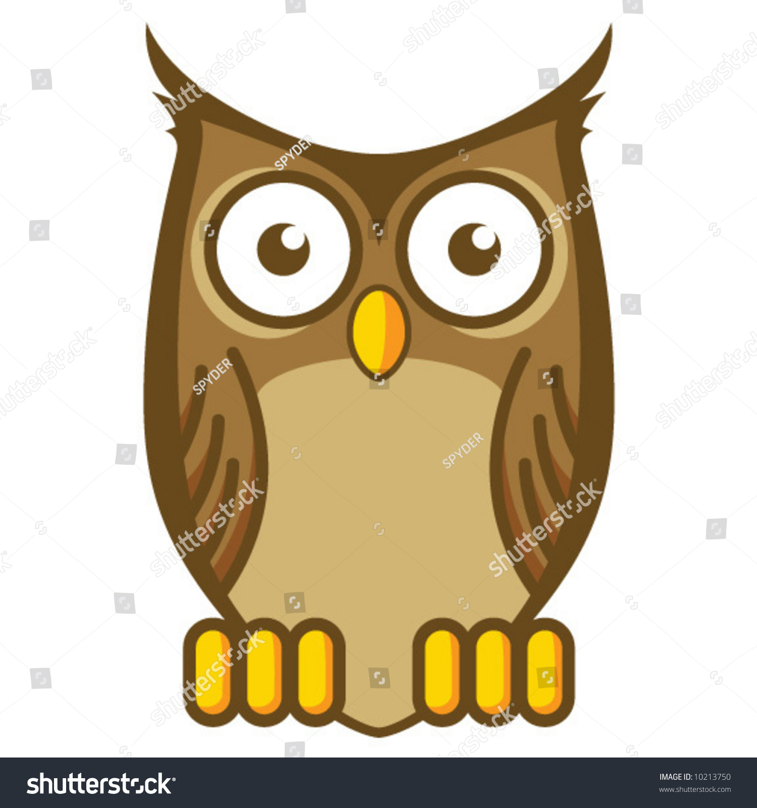 Cartoon owl stock vector 10213750 shutterstock for Owl beak drawing