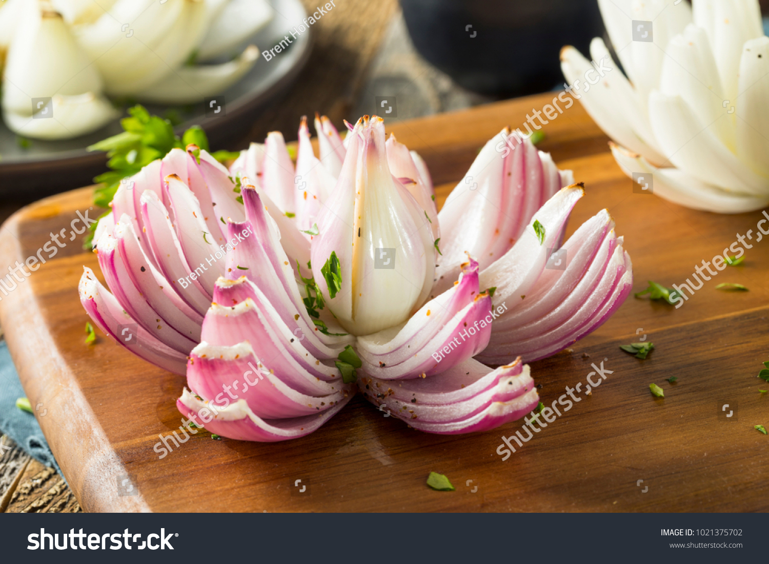 Baked Organic Onion Lotus Flower Ready Stock Photo Edit Now