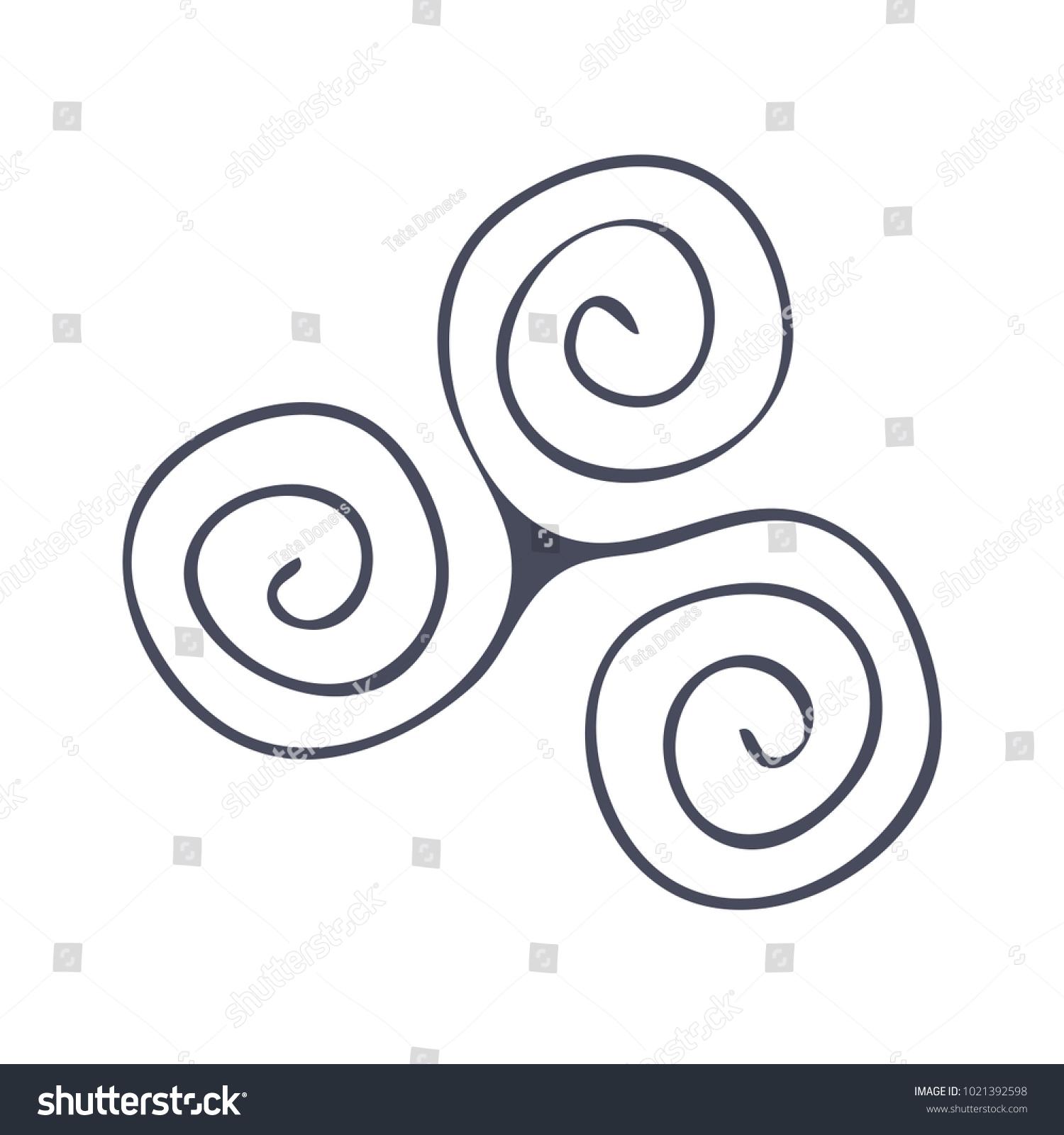 Triskele celtic symbol images symbol and sign ideas vector symbol triad triskelion triskele celtic stock vector vector symbol the triad triskelion triskele or celtic biocorpaavc