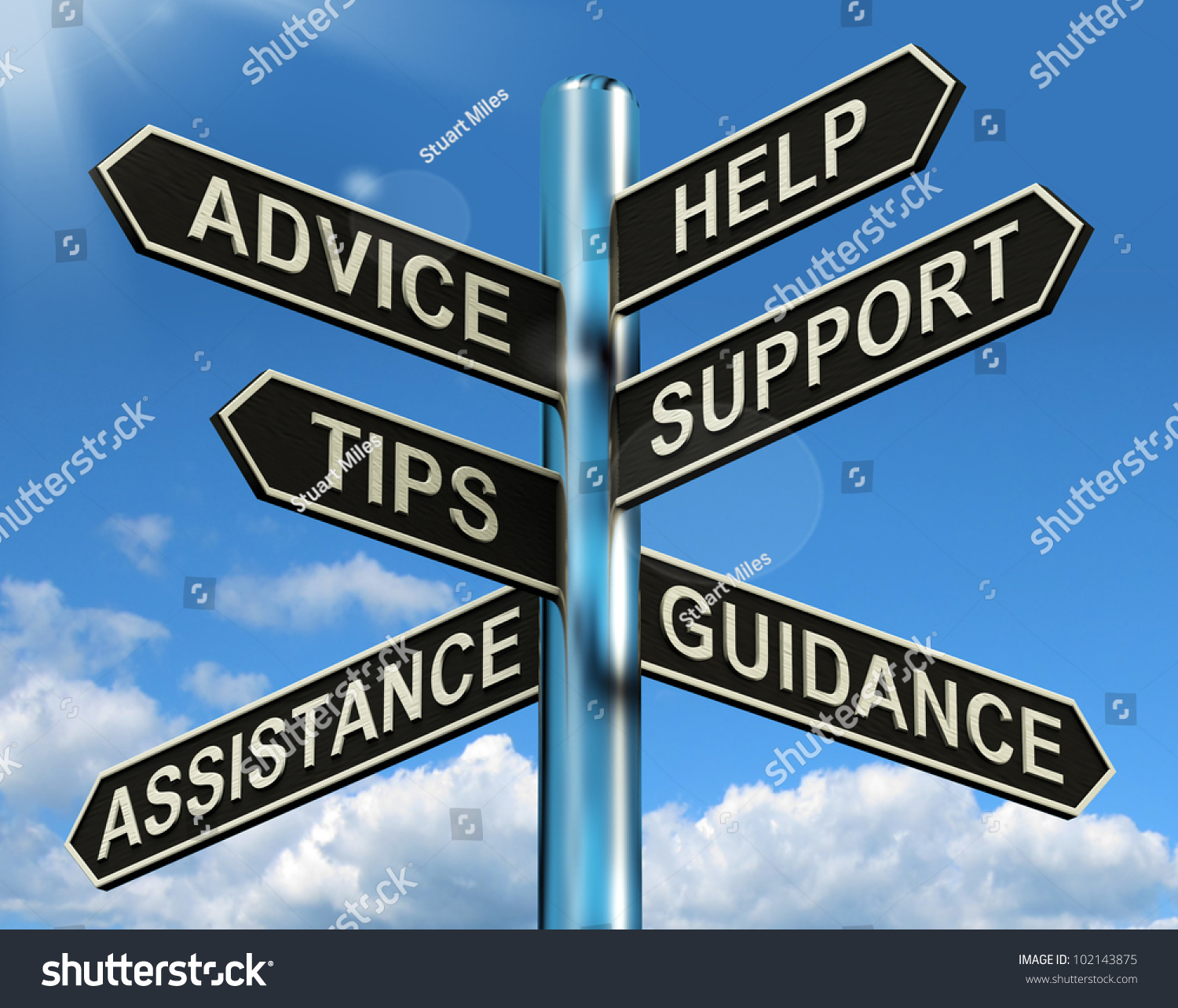 Admirable Advice Help Support Tips Signpost Shows Stock Illustration Hairstyles For Men Maxibearus