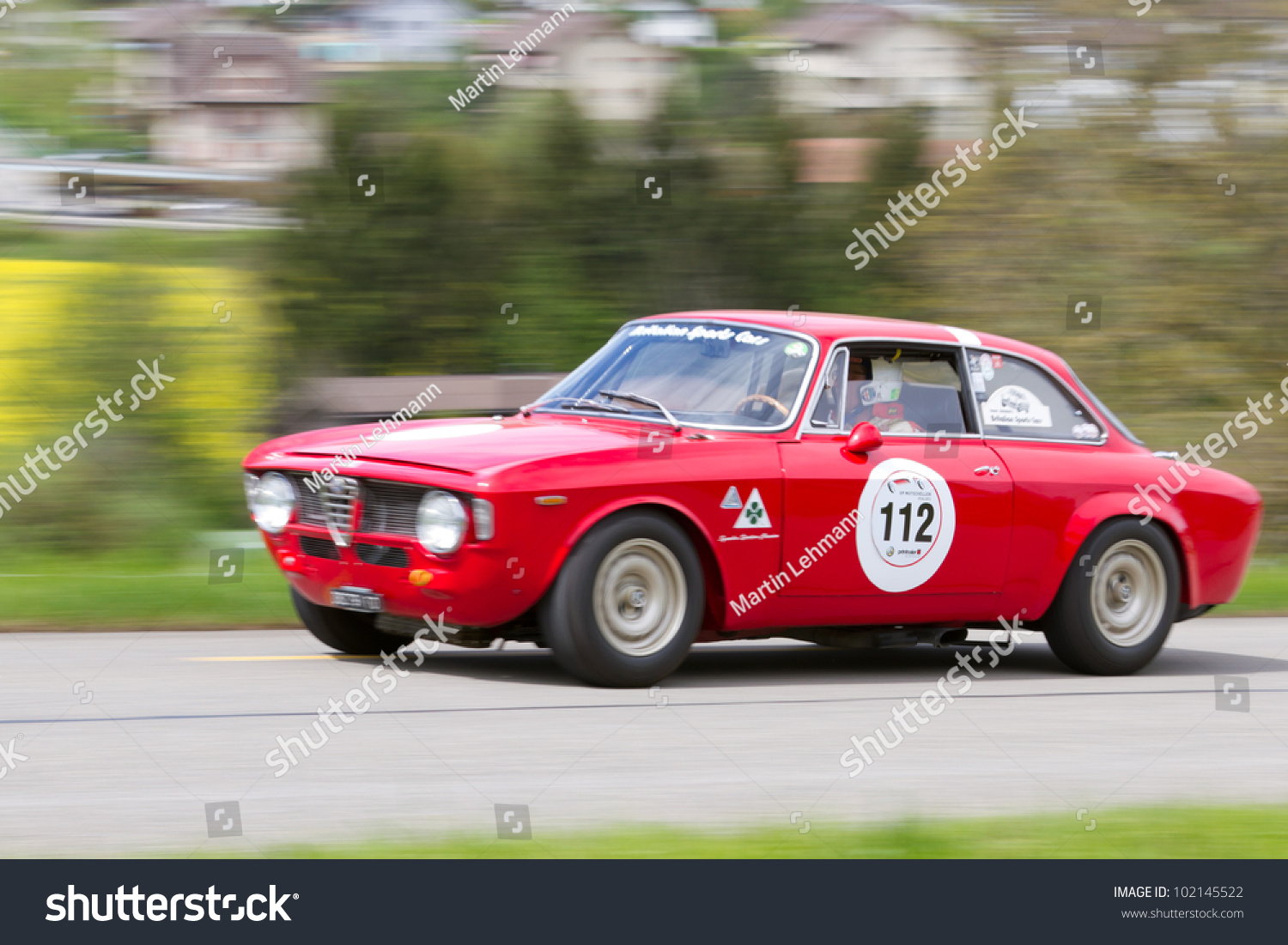 mutschellen switzerland april 29 vintage race touring car alfa romeo giulia sprint gt from. Black Bedroom Furniture Sets. Home Design Ideas