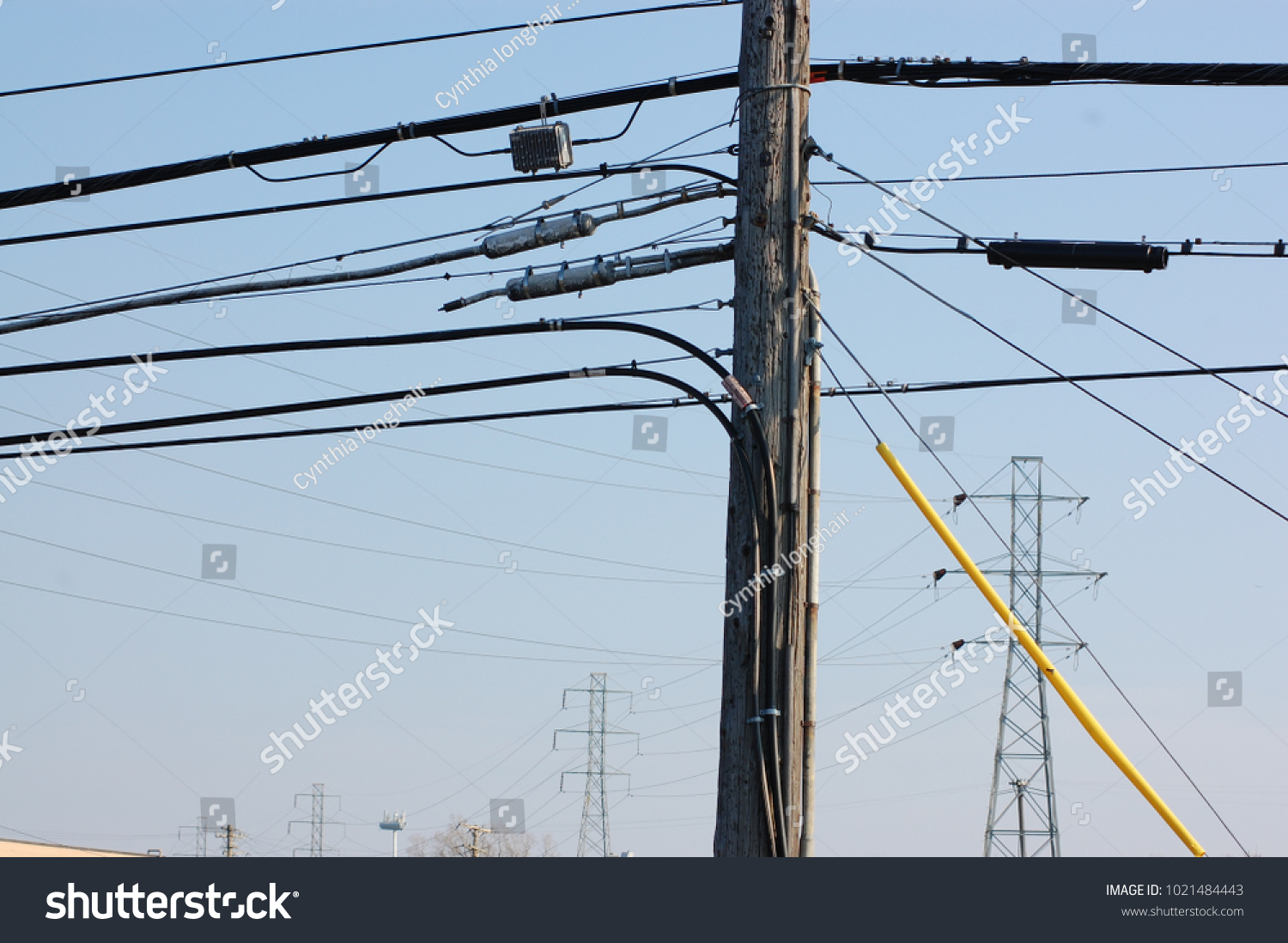 Awe Inspiring Horizontal View Electrical Power Lines Fiber Stock Photo Edit Now Wiring Cloud Hisonuggs Outletorg