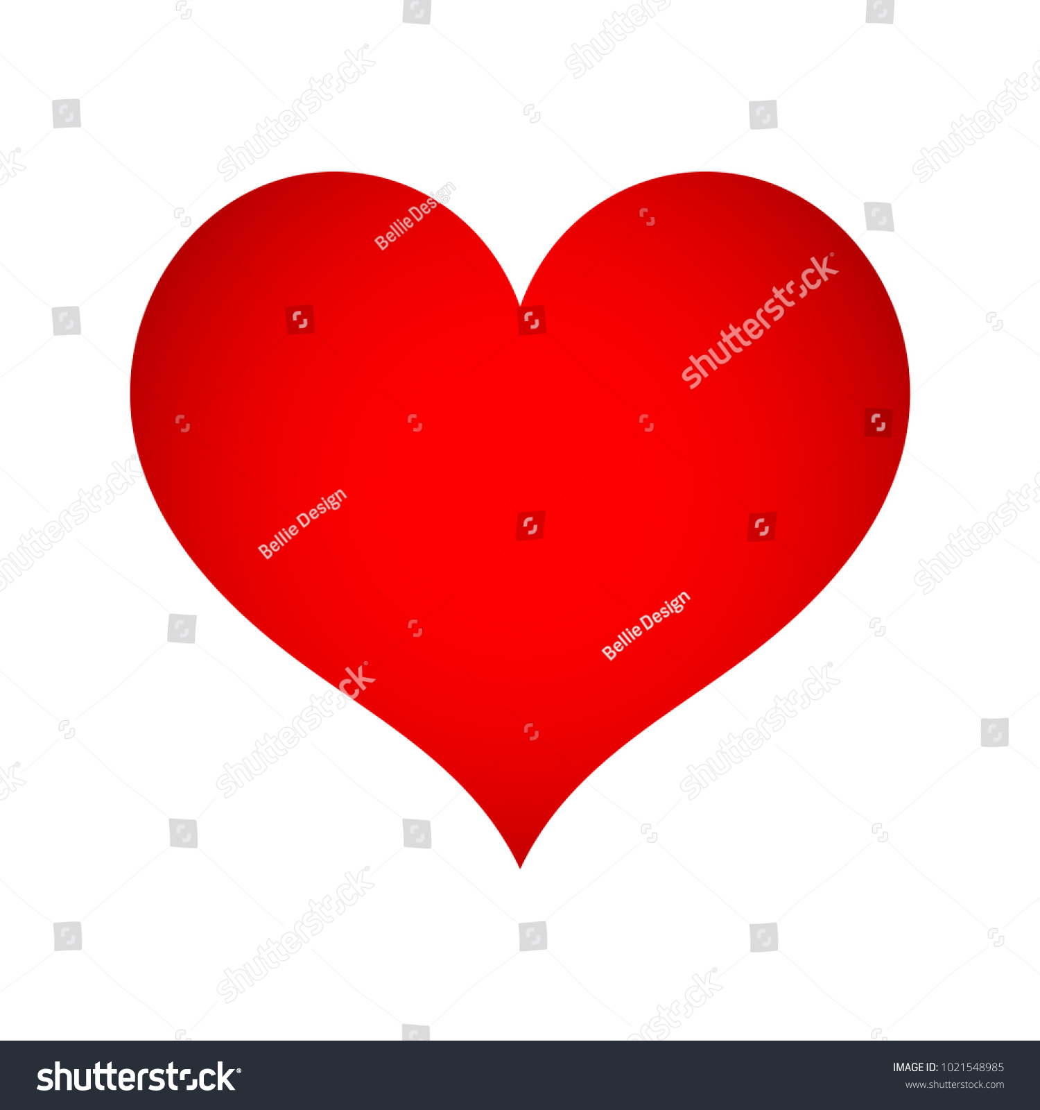 Heart Shape Icon Sign Symbol Silhouette Stock Vector Royalty Free