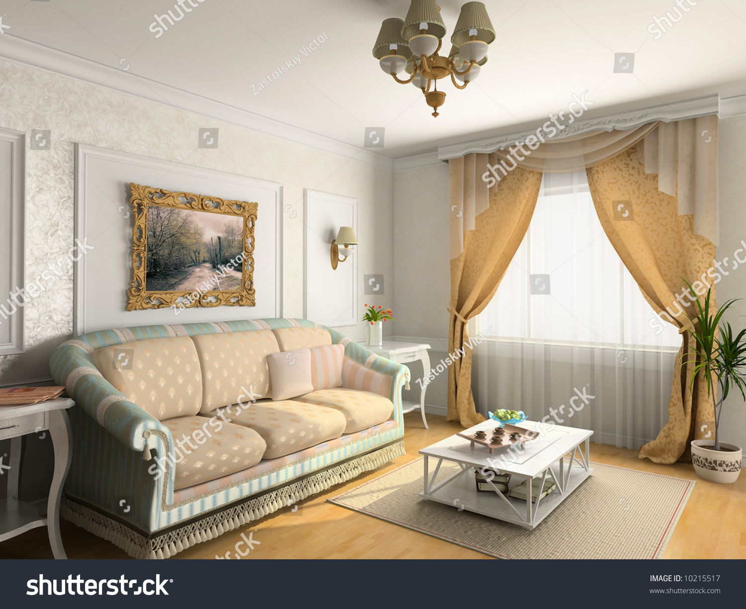 High Quality Modern Classic Interior Design (private Apartment 3d Rendering)