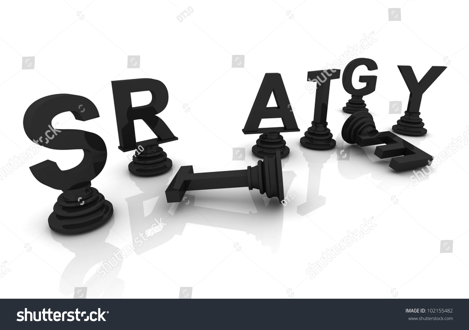 Strategy Chess 3 D Render Font Stock Illustration 102155482