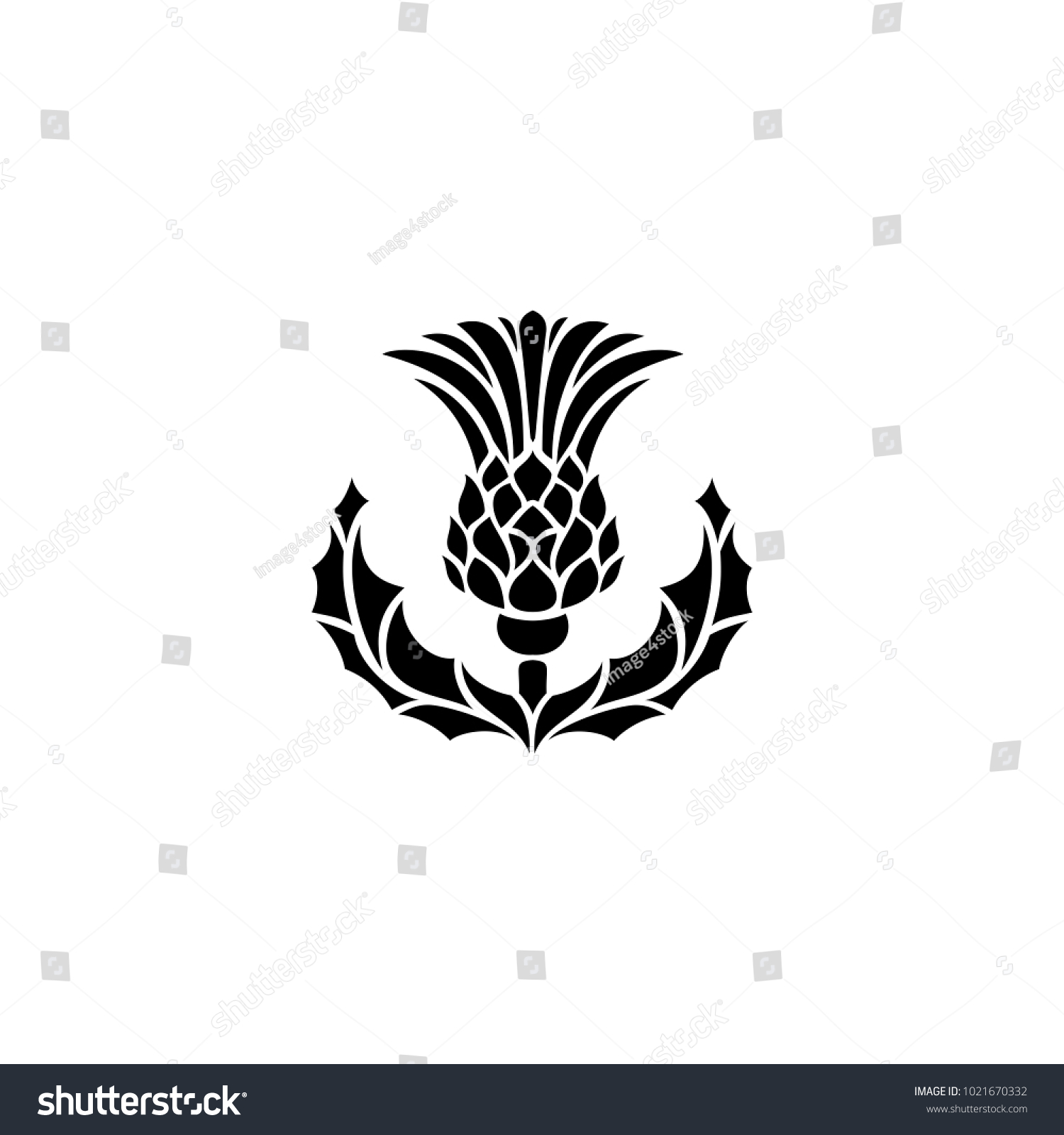 Thistle Symbol Scotland Uk Vector Illustration Stock Vector Royalty