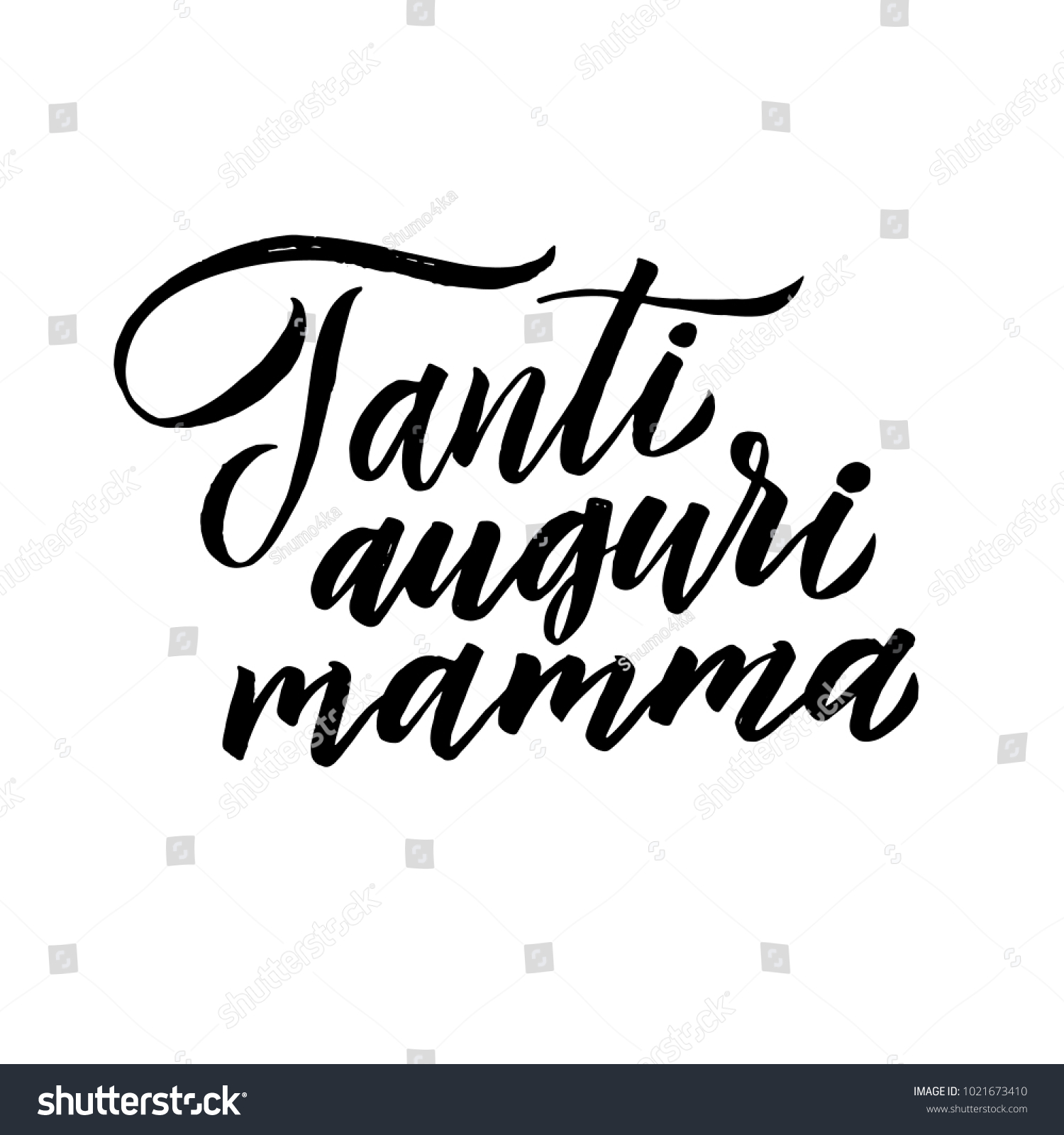 Happy birthday mom italian language greeting stock vector 1021673410 italian language greeting card black hand calligraphy inscription lettering illustration kristyandbryce Images