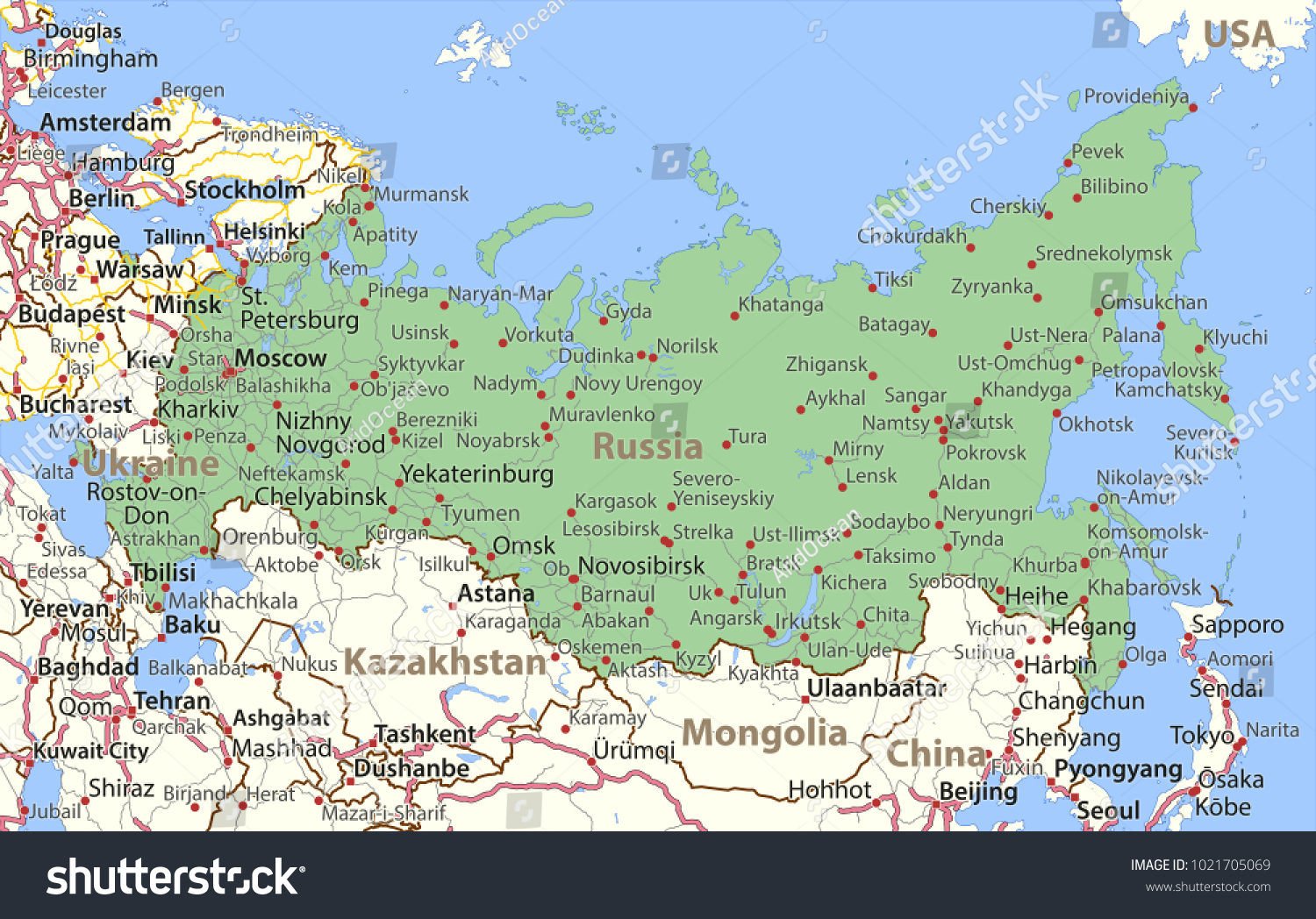 World map with country names in english picture ideas references world map with country names in english map of russia shows country borders place names and gumiabroncs Images