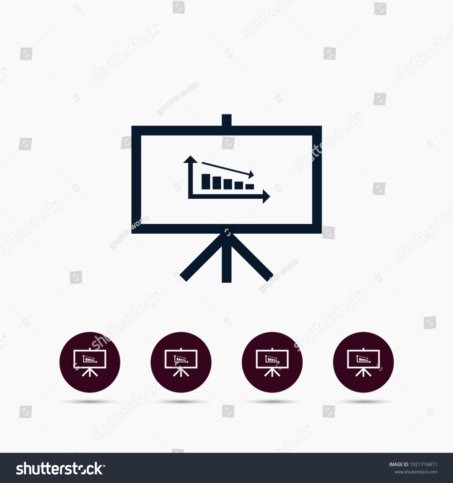 Diagram icon simple hr element illustration stock vector 1021716811 diagram icon simple hr element illustration office symbol design from business collection can ccuart Image collections