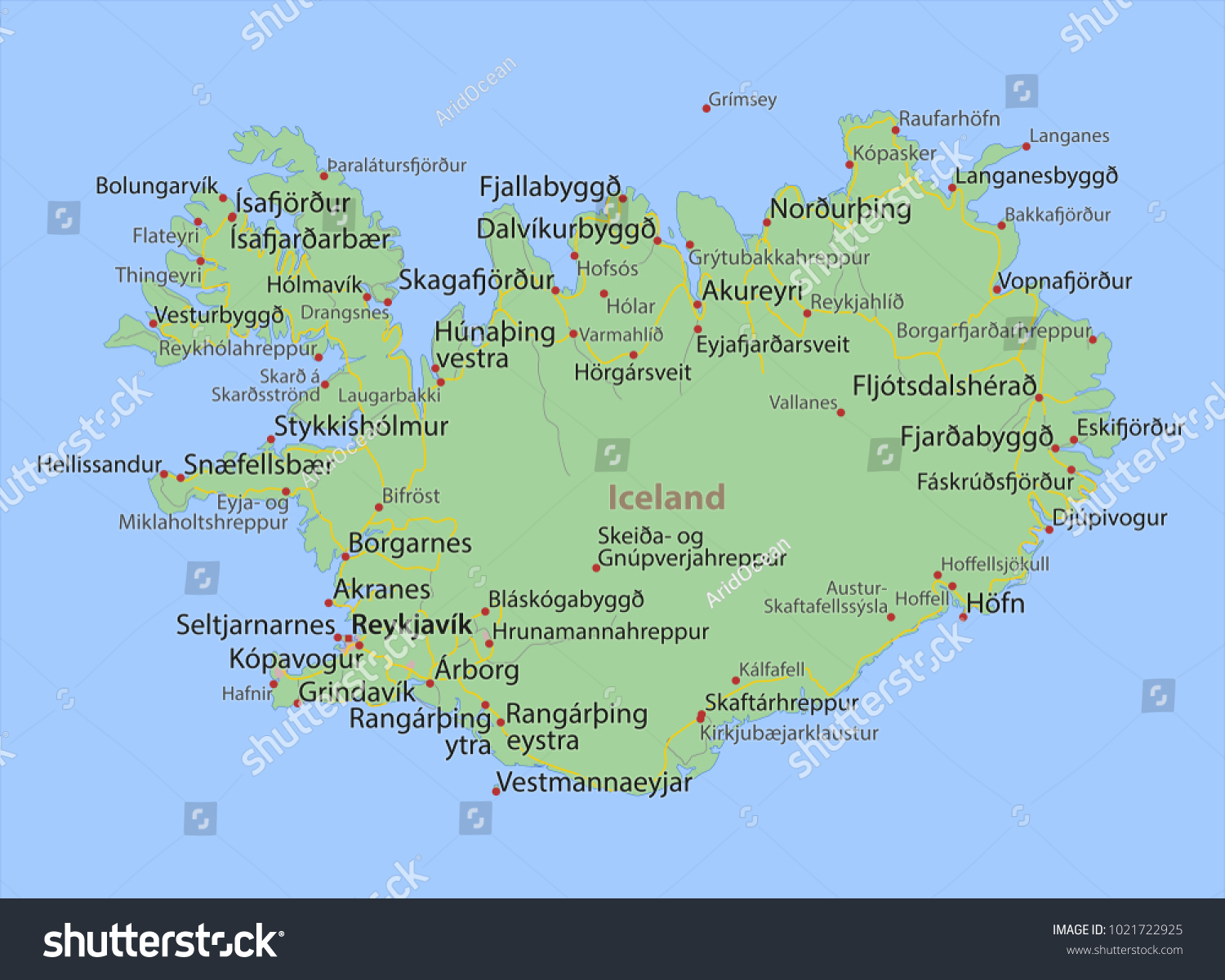 Map iceland shows country borders urban vector de stock1021722925 map iceland shows country borders urban vector de stock1021722925 shutterstock gumiabroncs Image collections