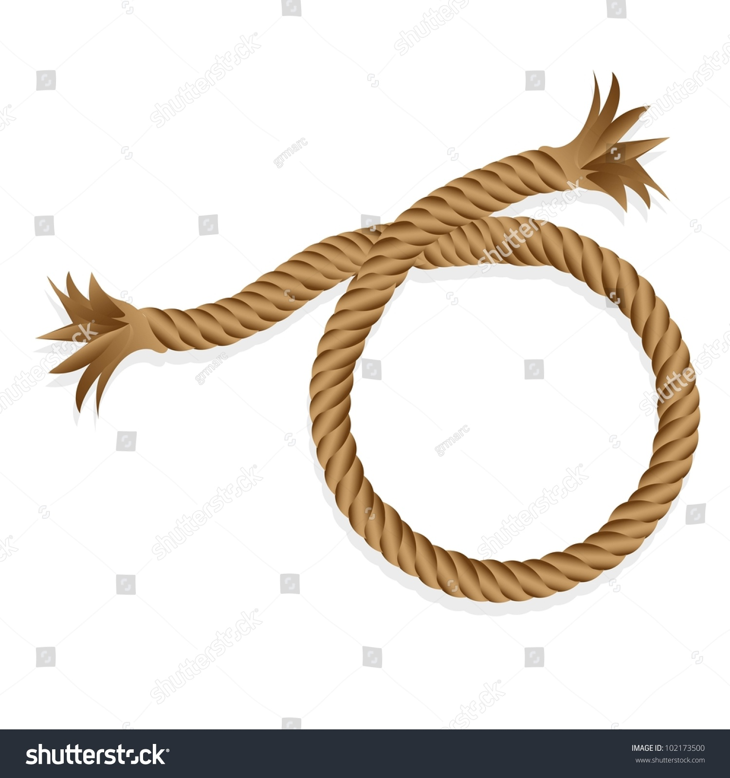 Braided Rope Isolated On White Background Stock Vector Royalty Free Bowline Knot Diagram Clipart Best Illustration