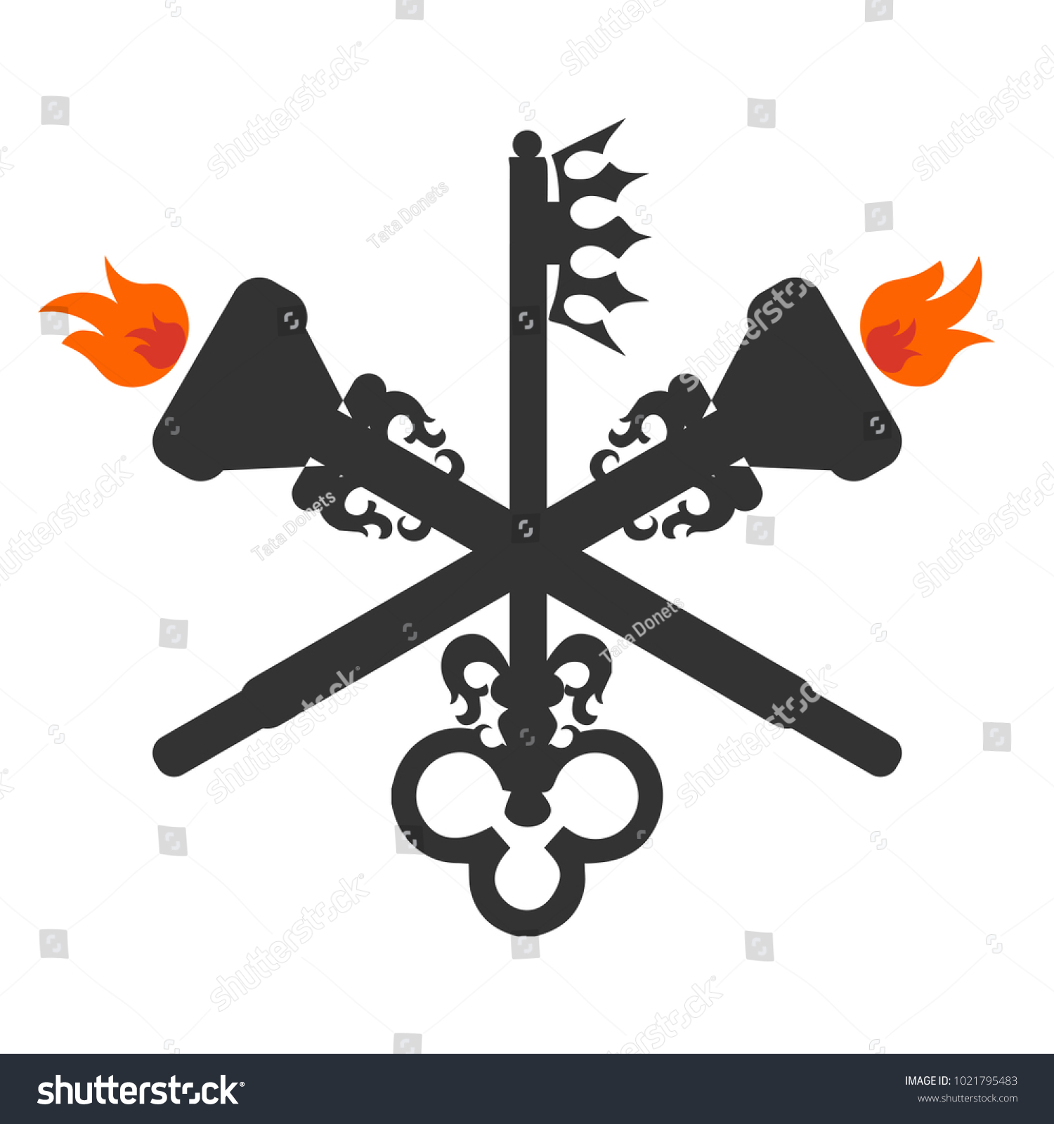 Goddess Hecate Known Triple Goddess Crone Stock Vector 1021795483