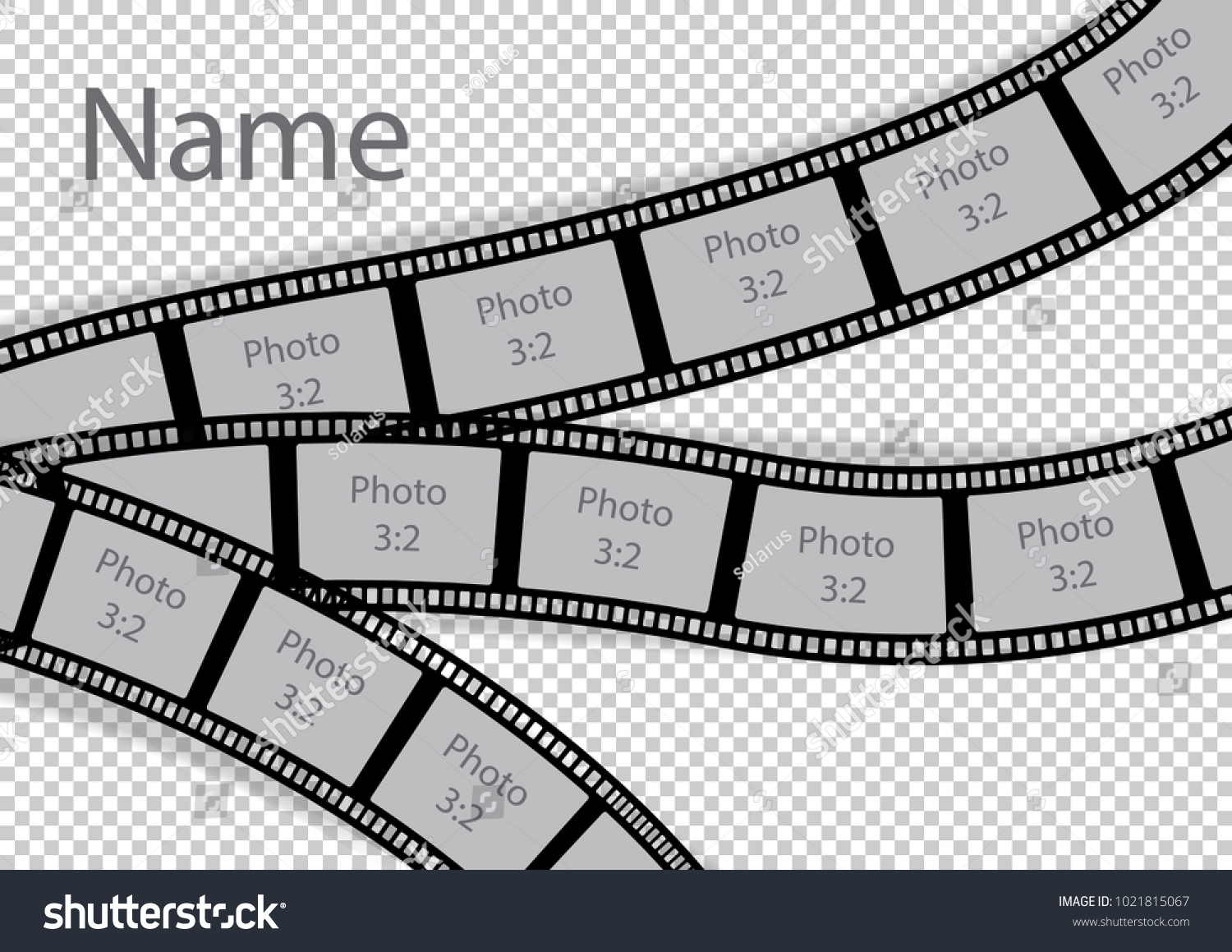 Film Strip Photo Frame Effect Template Stock Vector 1021815067 ...